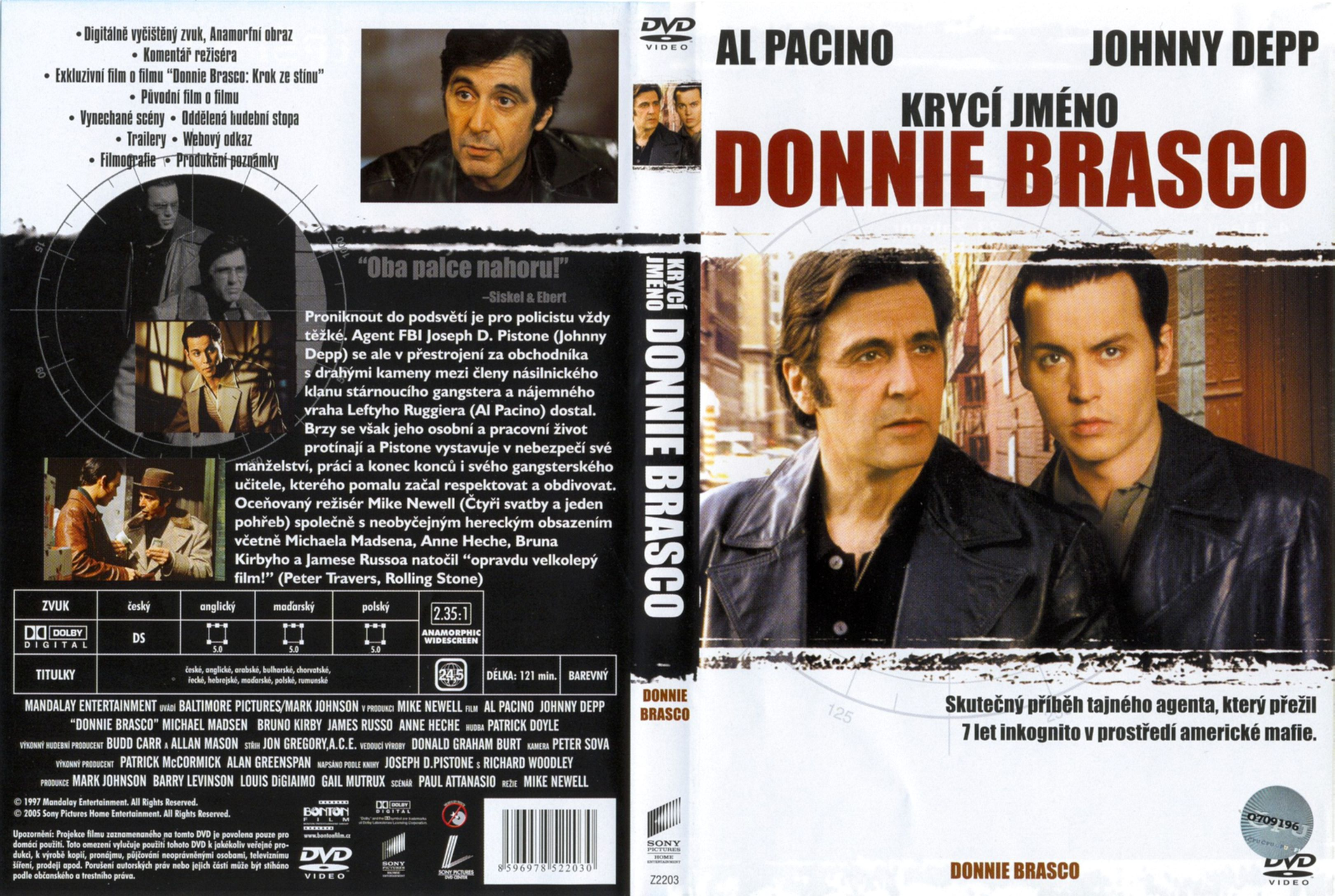 a review of donnie brasco a mobster movie by mike newell