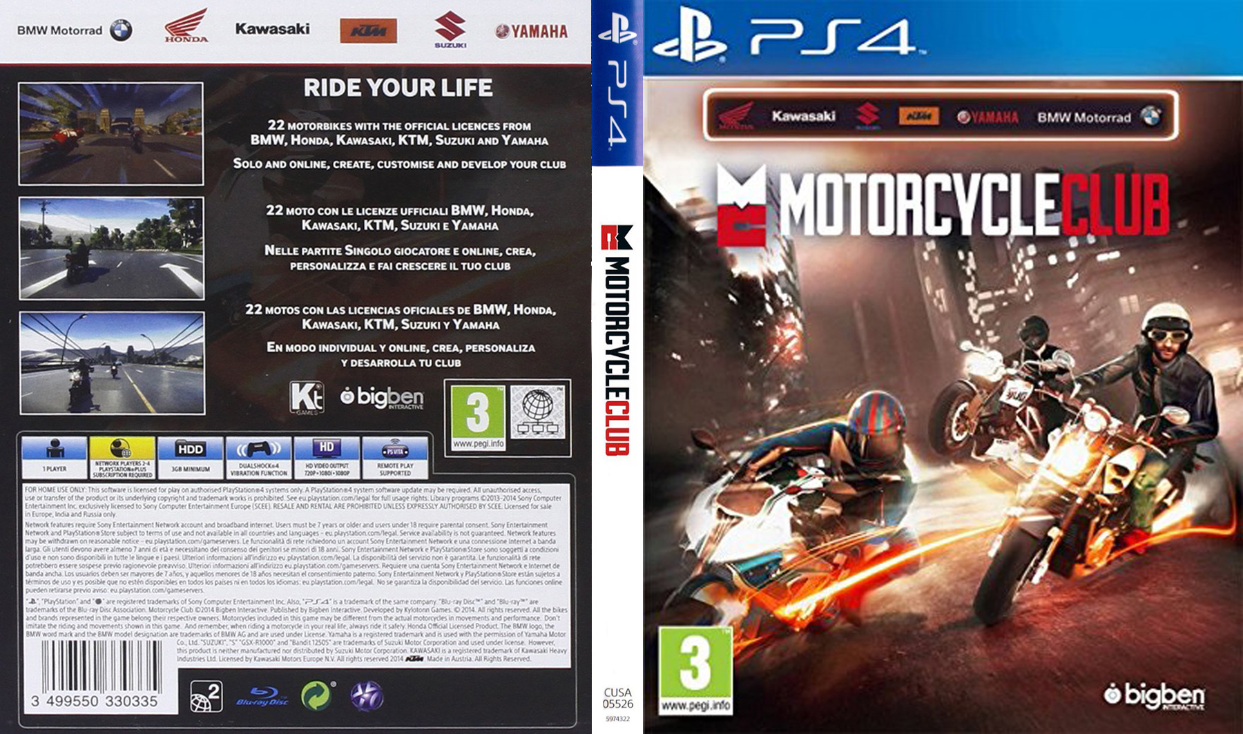 COVERS BOX SK ::: The Motorcycle Club (2014) PS4 - high