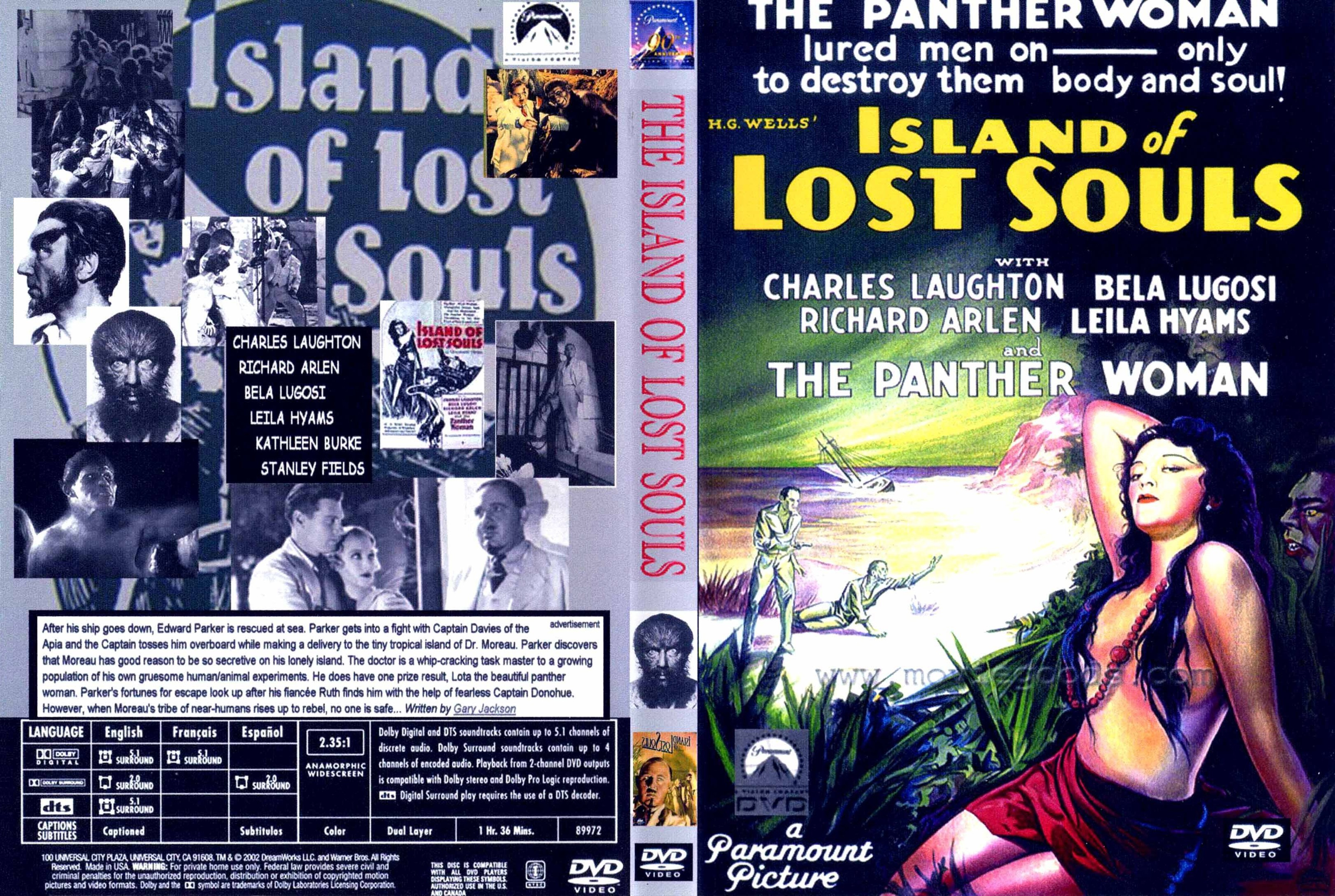 Coversx Island Of Lost Souls 1932 High Quality Dvd