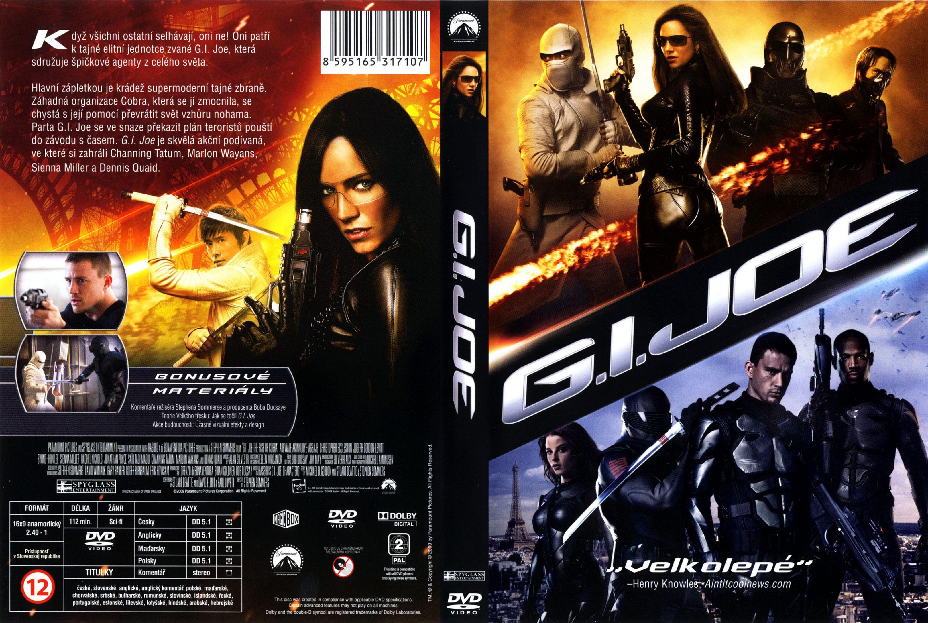 Covers Box Sk G I Joe The Rise Of Cobra 2009 High Quality Dvd Blueray Movie