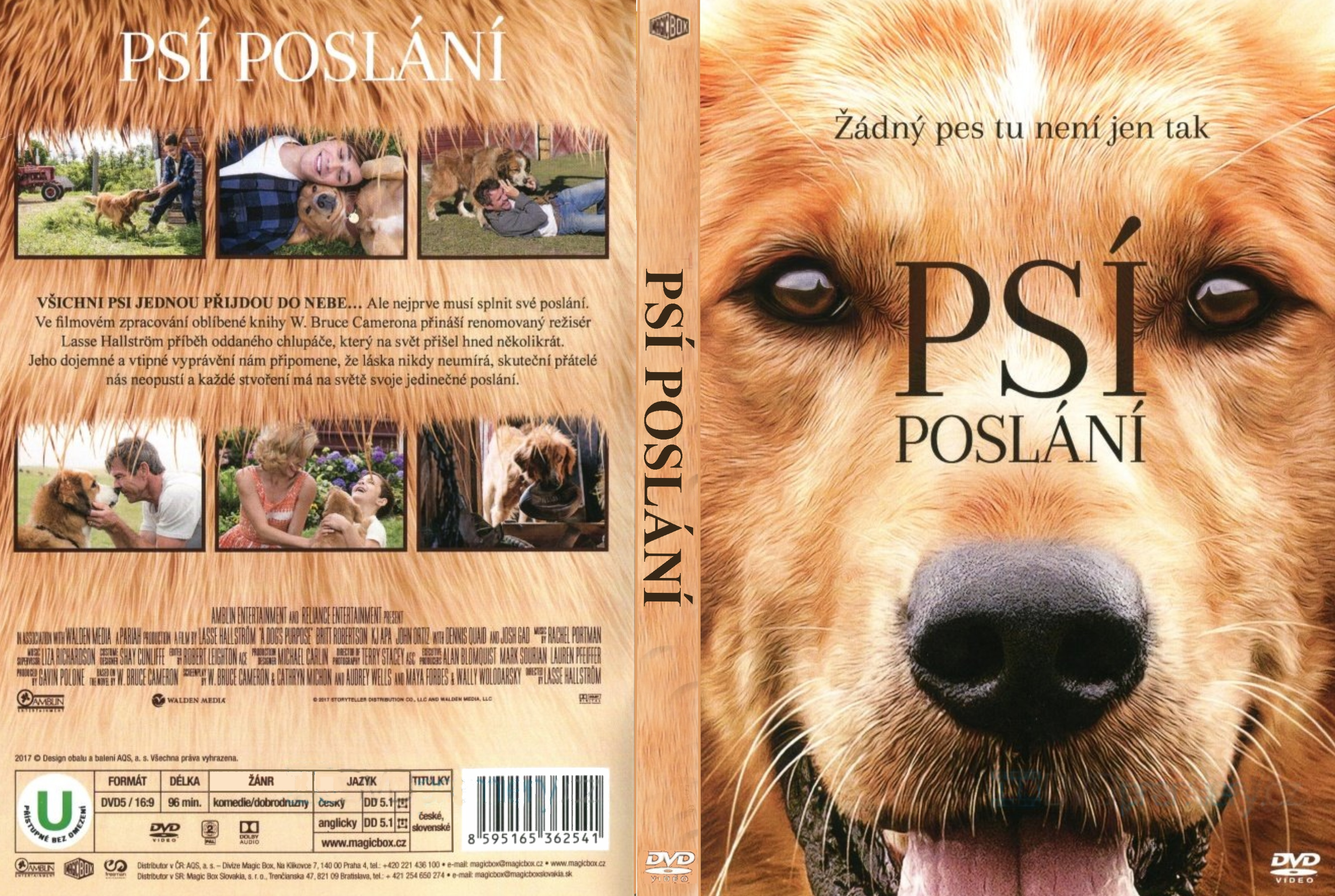 Covers Box Sk A Dog S Purpose 2017 High Quality Dvd Blueray Movie