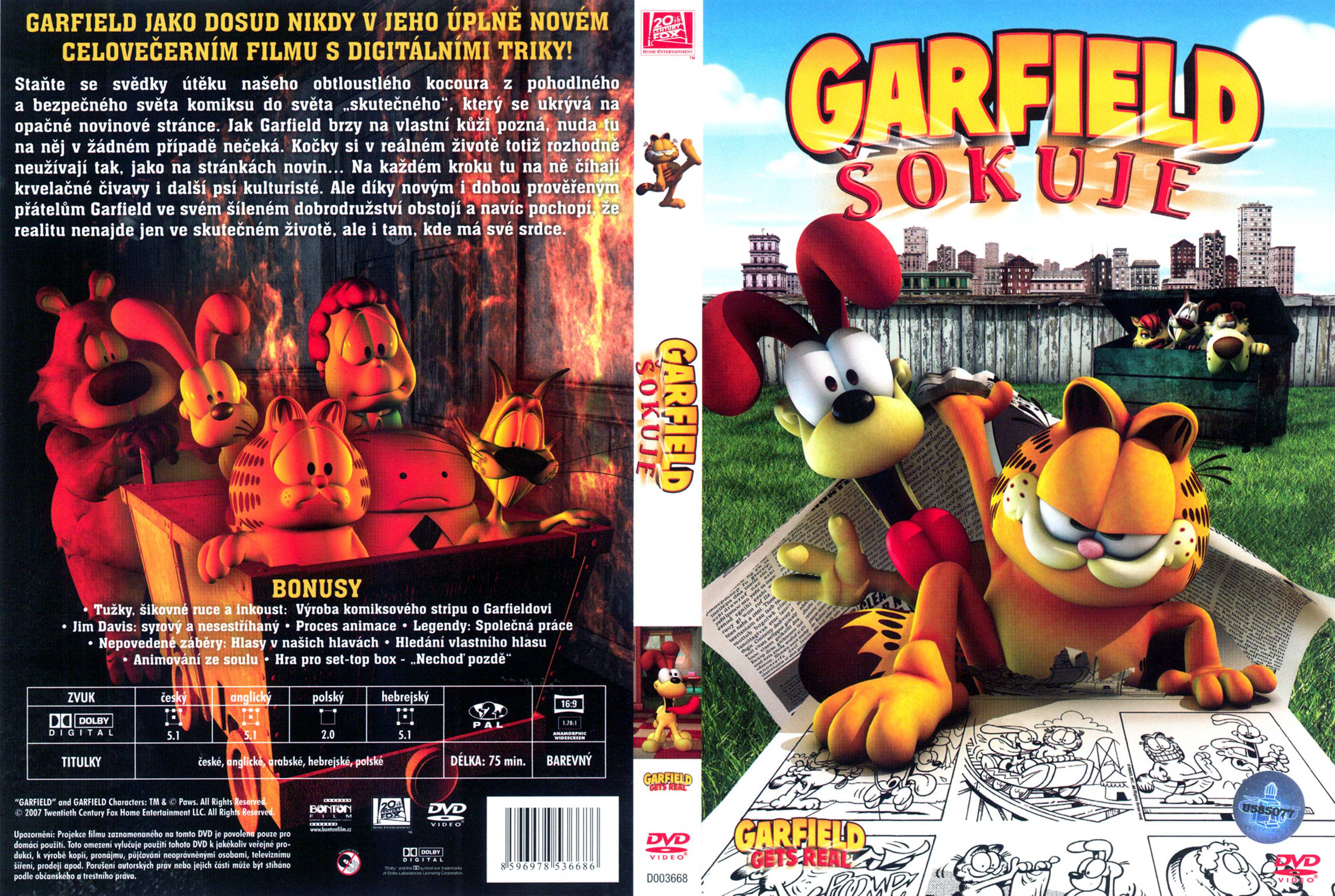 Covers Box Sk Garfield Gets Real 2007 High Quality Dvd Blueray Movie
