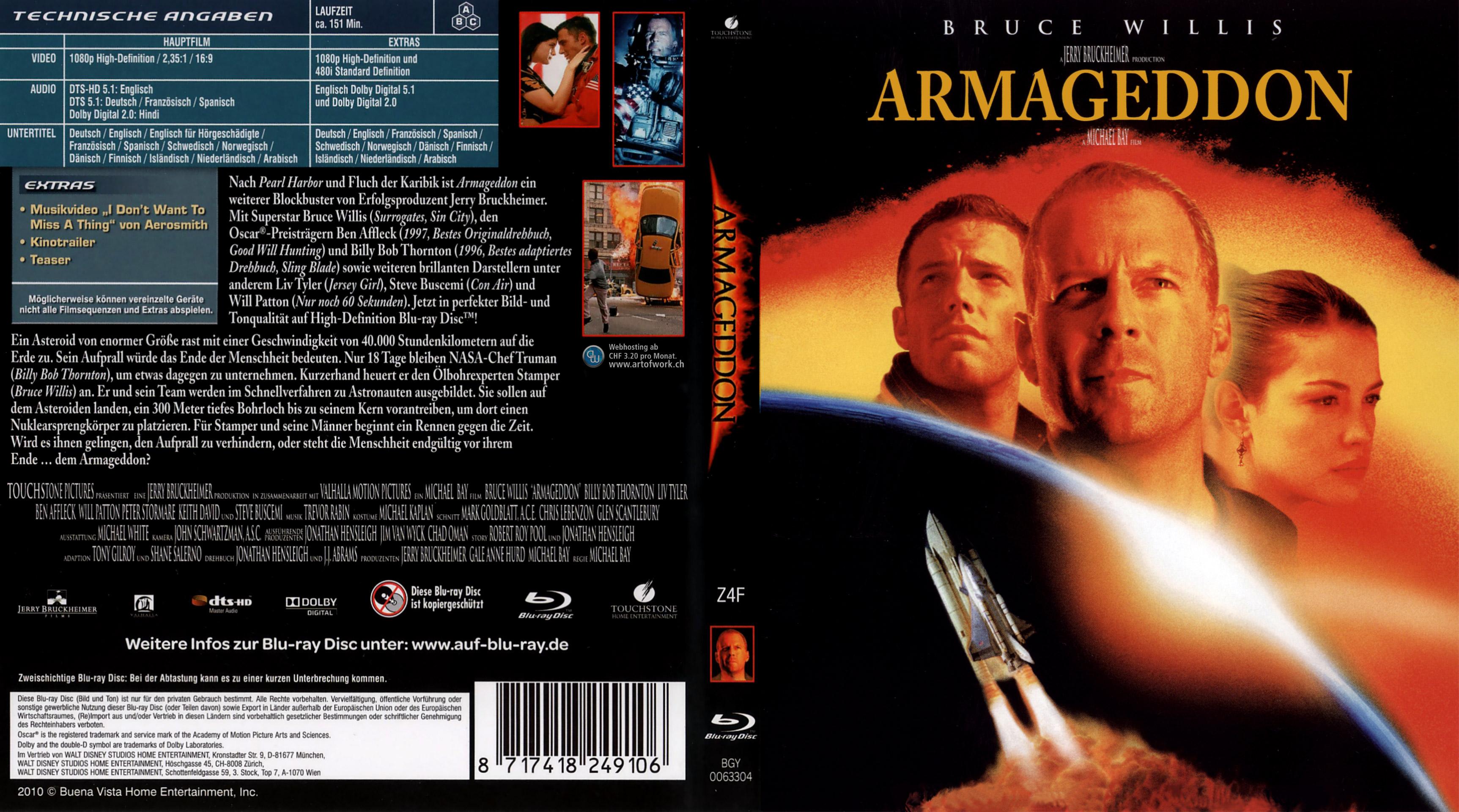 Covers Box Sk Armageddon 1998 High Quality Dvd Blueray Movie