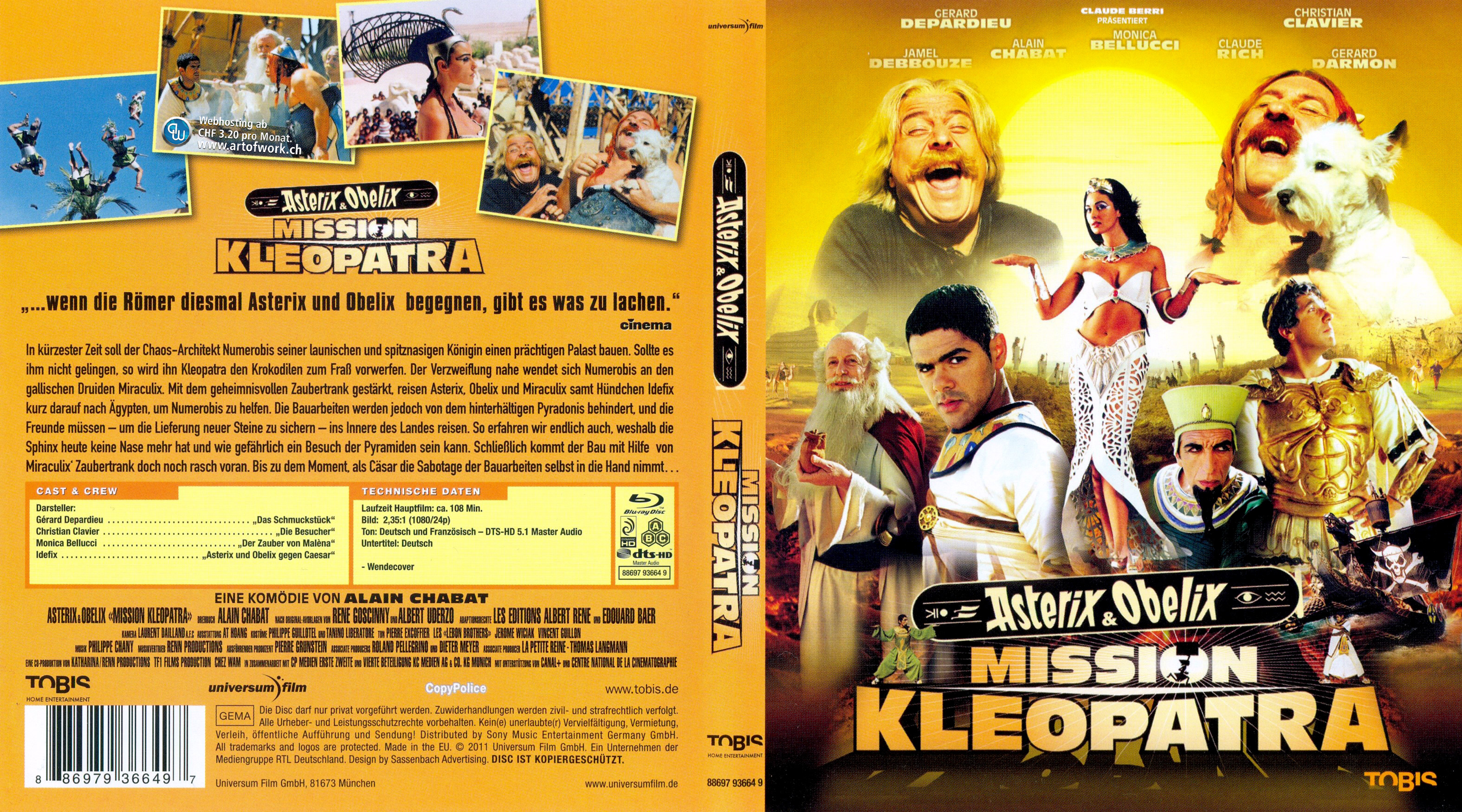 Covers Box Sk Asterix And Obelix Meet Cleopatra 2002 High Quality Dvd Blueray Movie