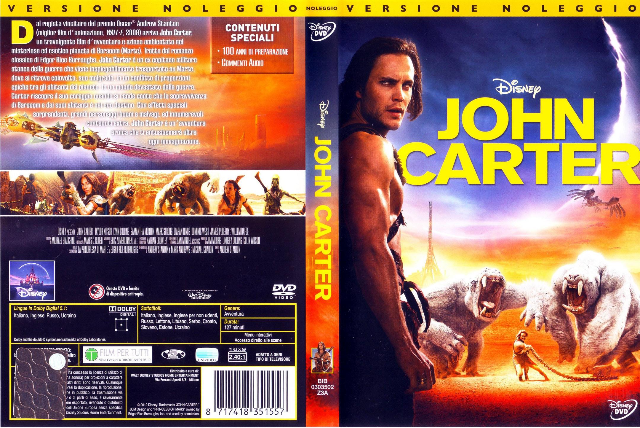 Covers Box Sk John Carter 2012 High Quality Dvd Blueray Movie