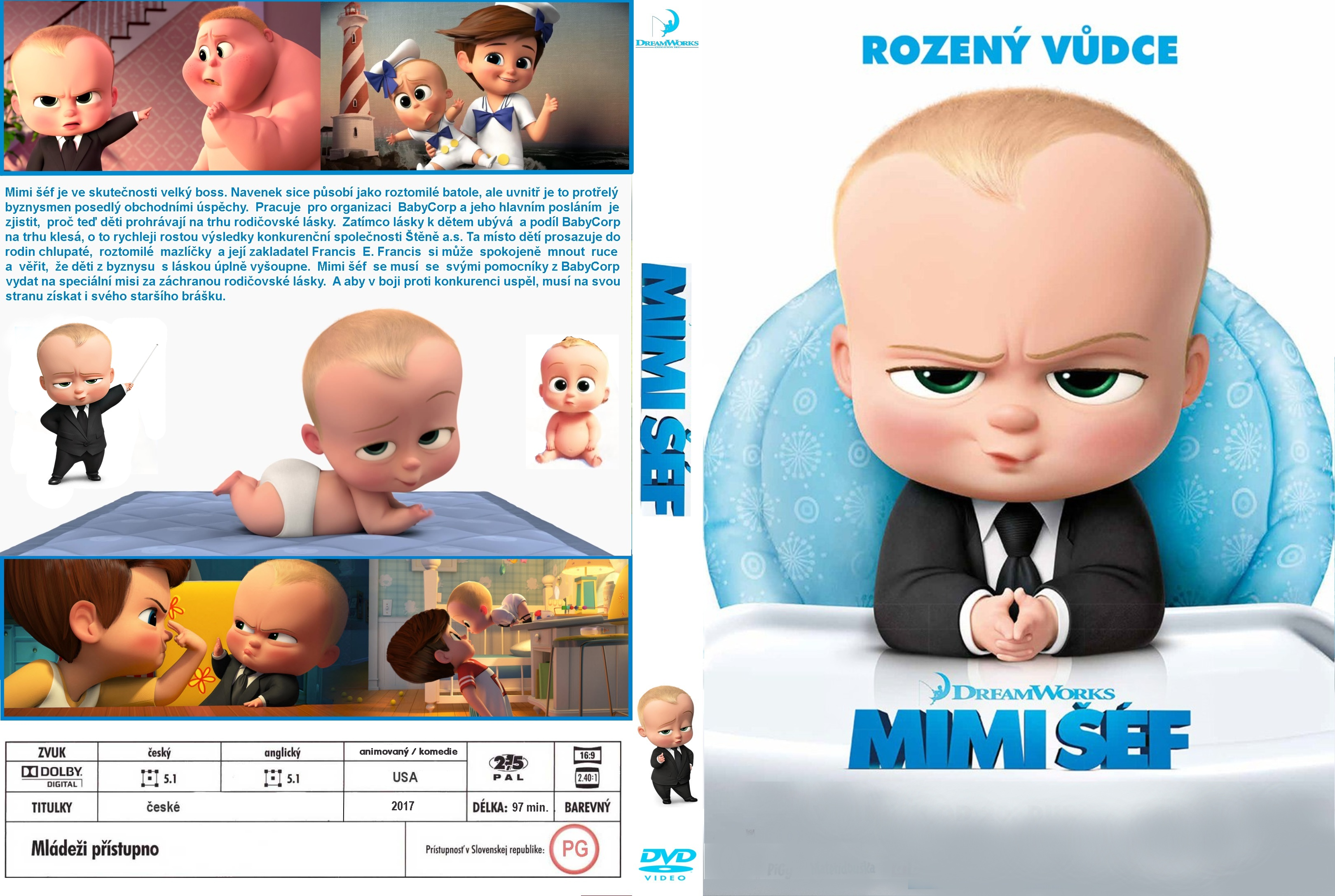 Covers Box Sk The Boss Baby 2017 High Quality Dvd Blueray Movie