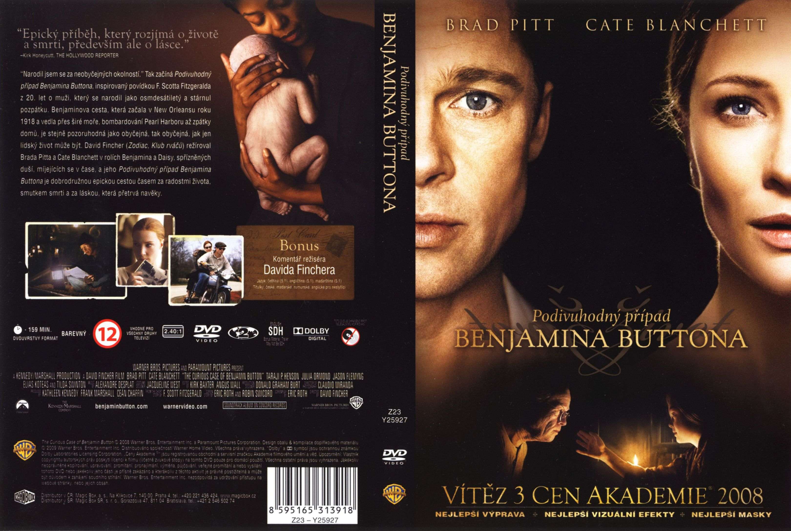 Covers Box Sk Curious Case Of Benjamin Button 2008 High Quality Dvd Blueray Movie