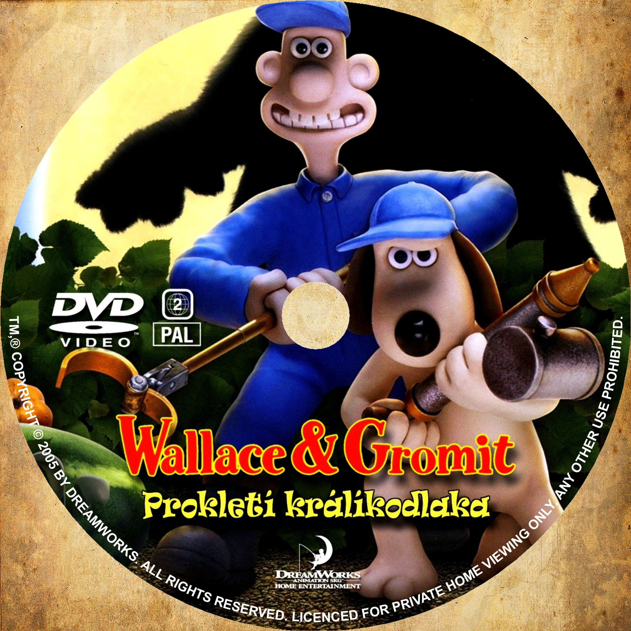 Covers Box Sk Wallace Gromit In The Curse Of The Were Rabbit 2005 High Quality Dvd Blueray Movie