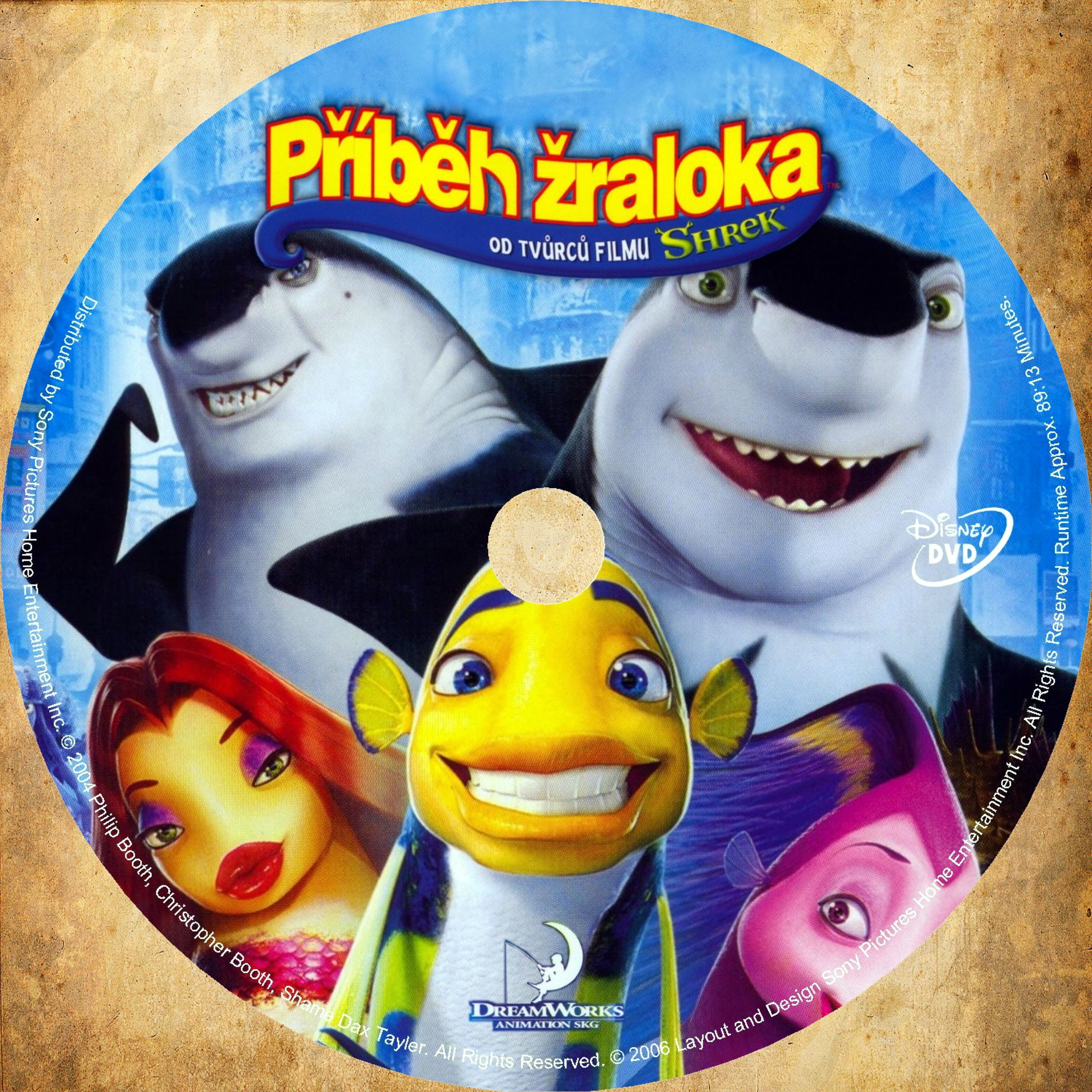 Covers Box Sk Shark Tale 2004 High Quality Dvd Blueray Movie