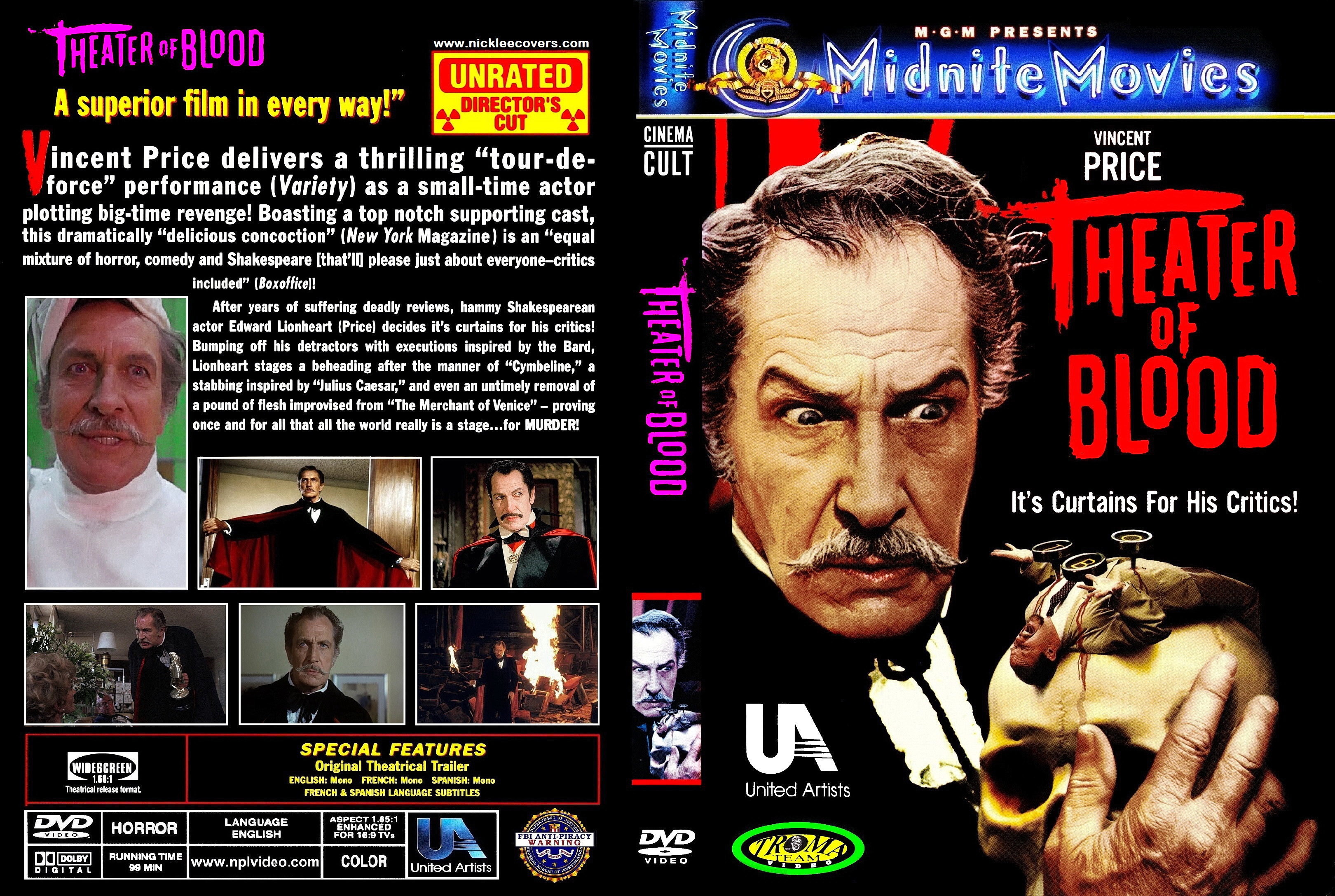 Theatre Of Blood 1973 Movie Poster
