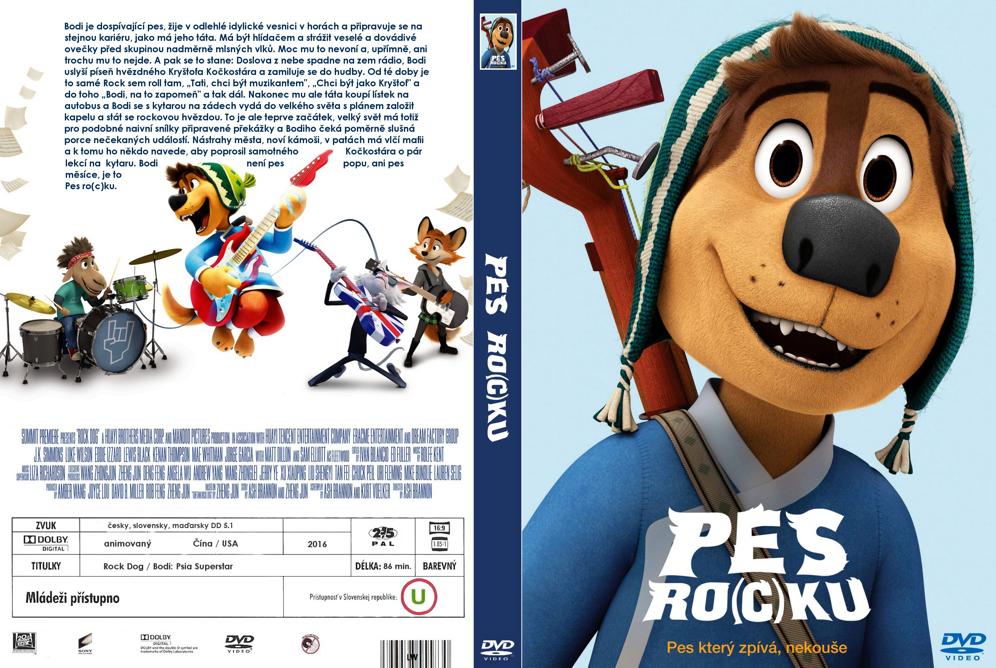 COVERS BOX SK ::: Rock Dog (2016) - high quality DVD / Blueray / Movie