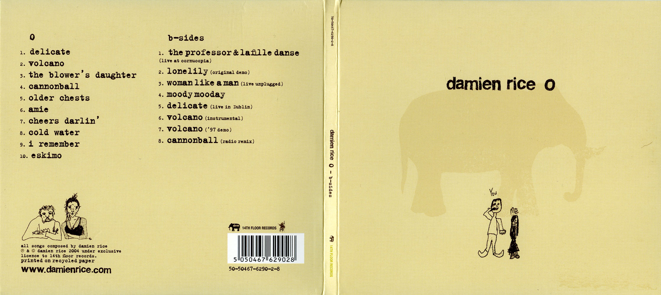 COVERS BOX SK ::: Damien Rice - O / B-Sides (2004) - high