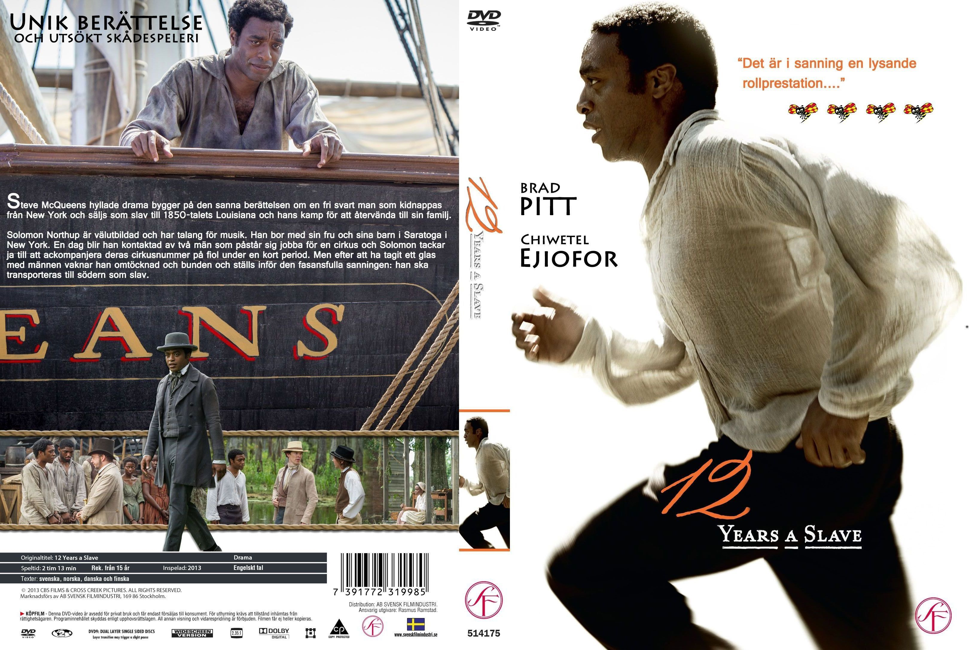 Covers Box Sk 12 Years A Slave 2013 High Quality Dvd Blueray Movie