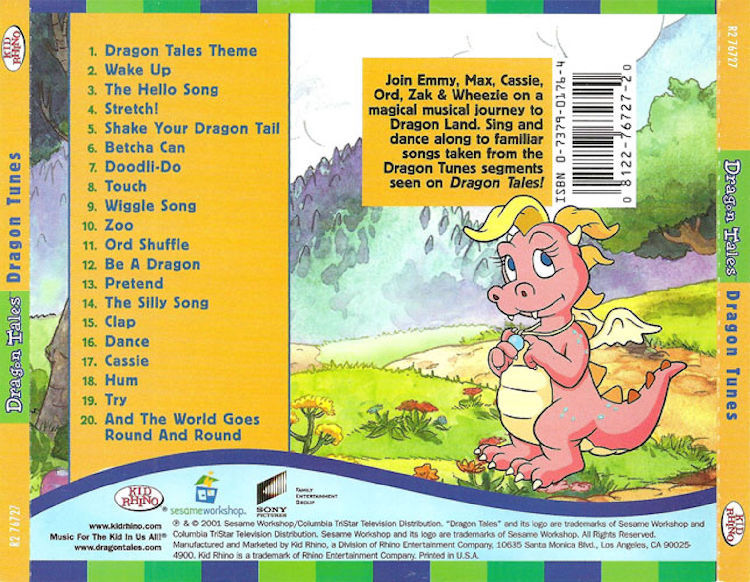 COVERS BOX SK ::: Dragon Tales - Dragon Tunes (2001) - high quality