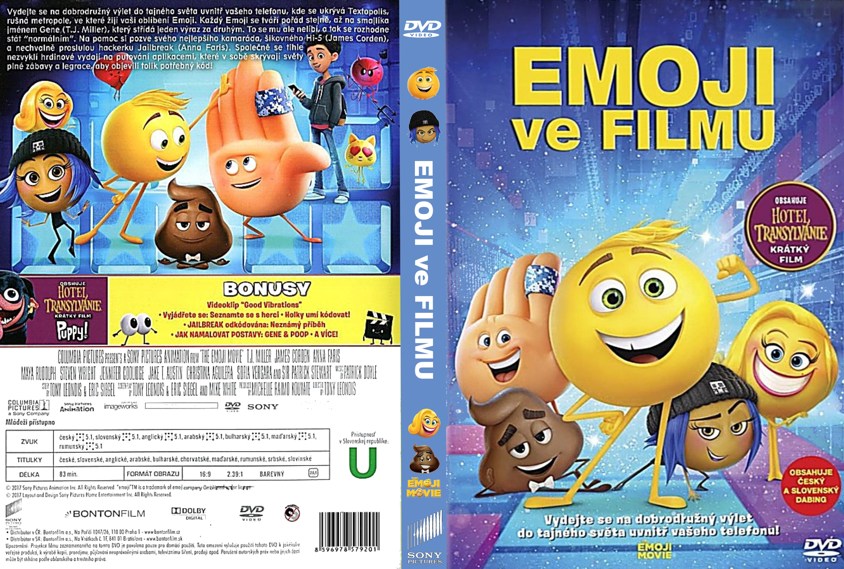 COVERS BOX SK ::: The Emoji Movie (2017) - high quality DVD