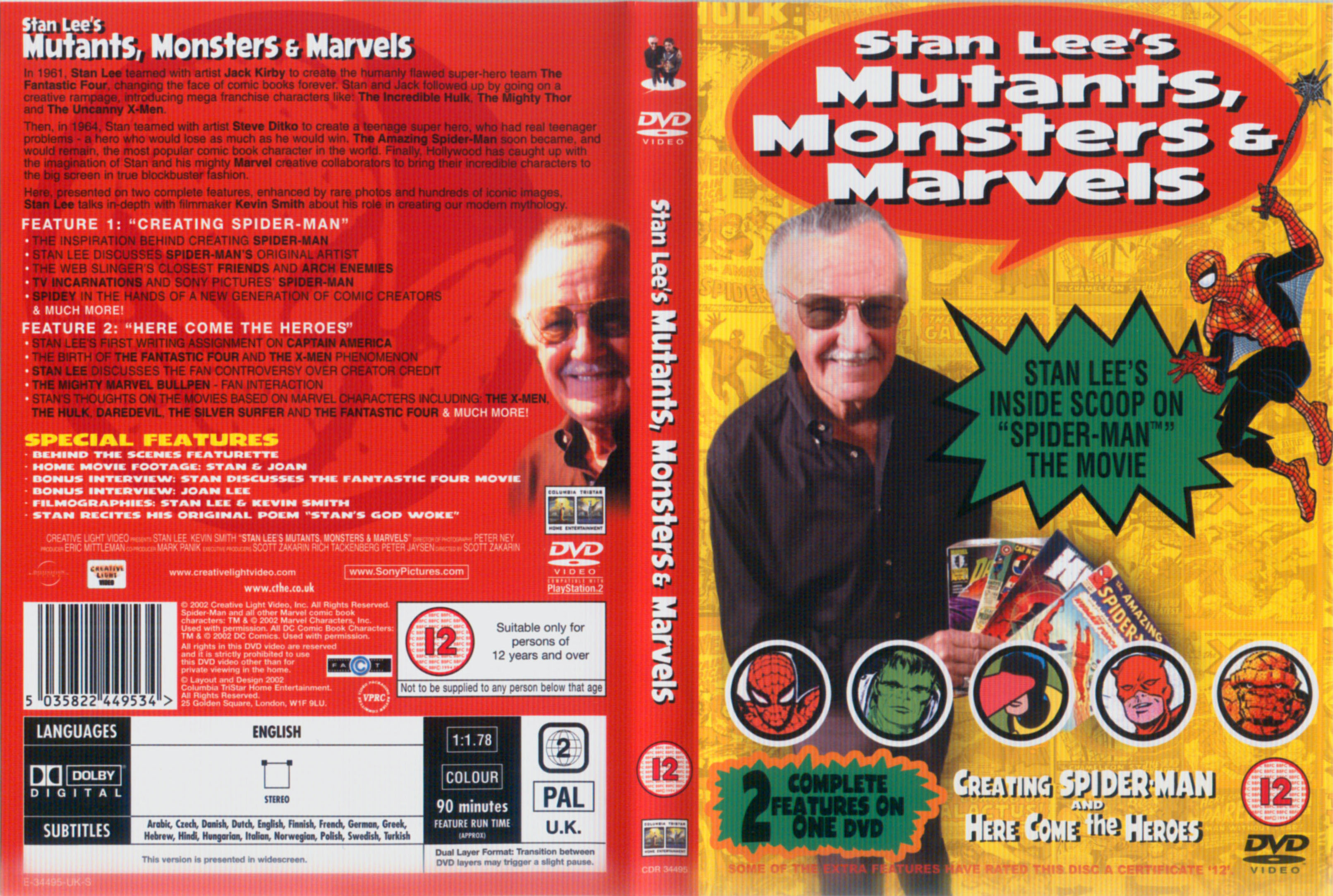 Covers Box Sk Stan Lee S Mutants Monsters Marvels