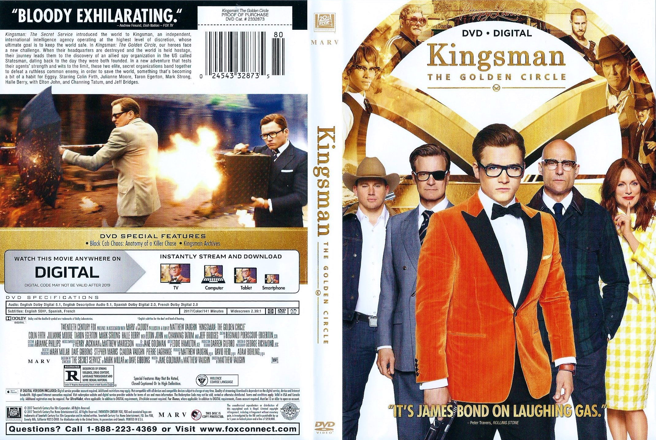 Covers Box Sk Kingsman The Golden Circle 2017 High Quality Dvd Blueray Movie