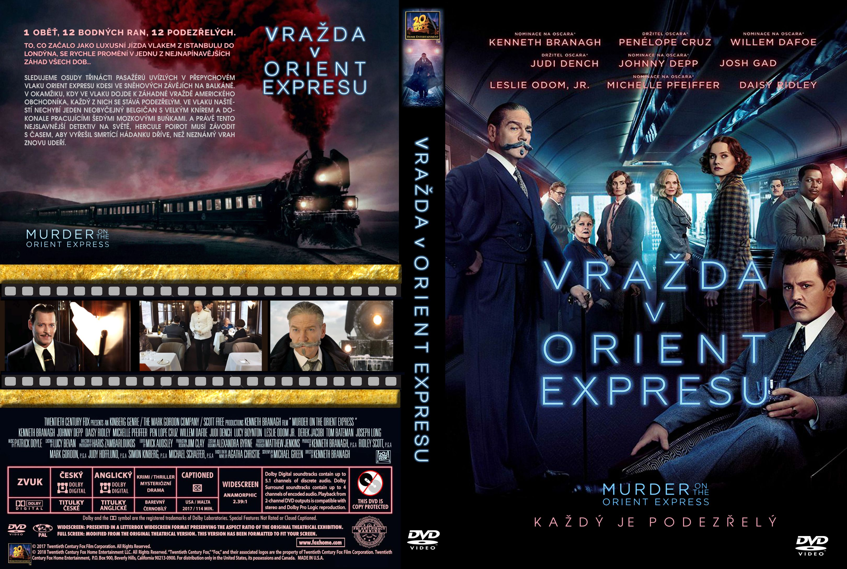 Covers Box Sk Murder On The Orient Express 2017 High Quality Dvd Blueray Movie