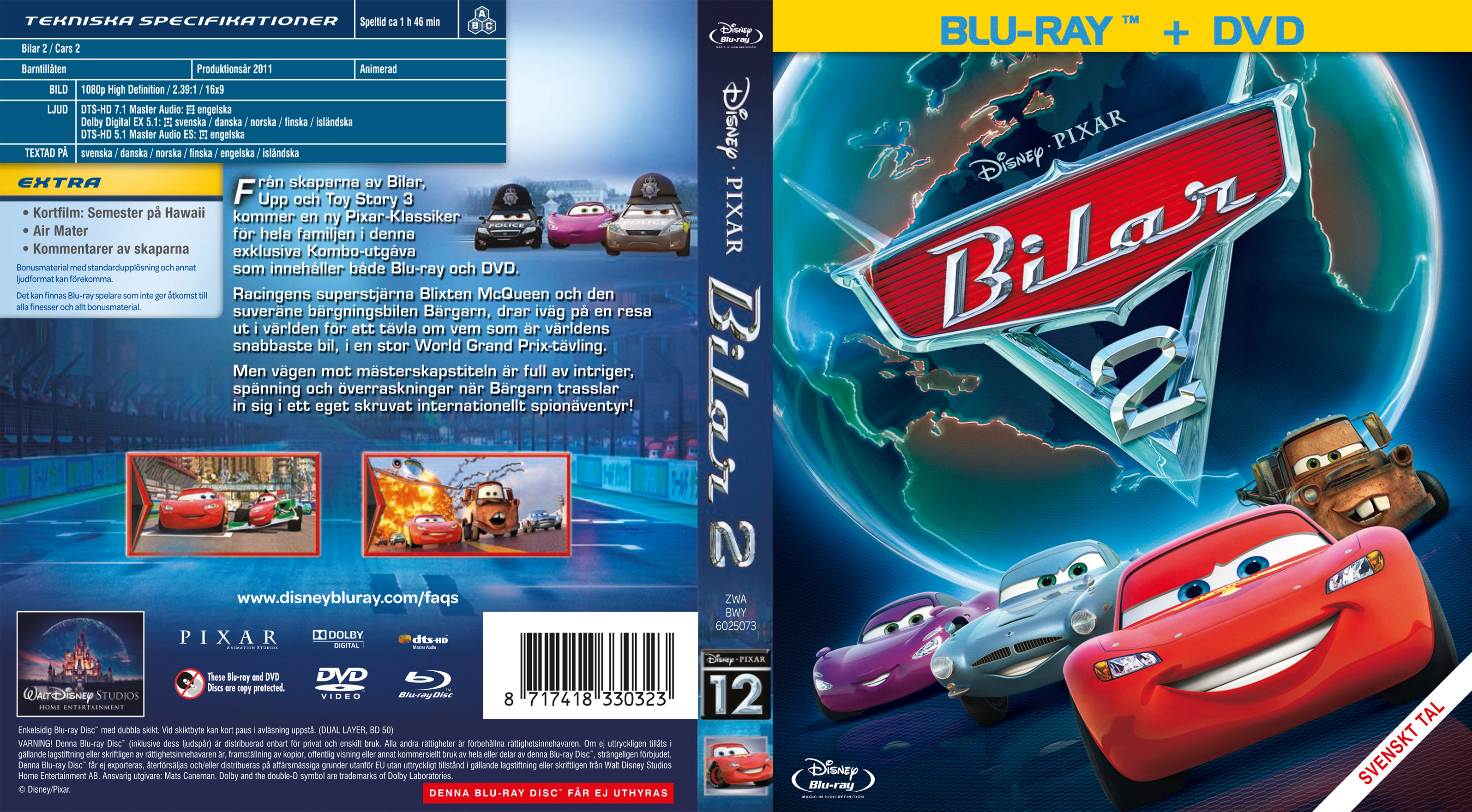Covers Box Sk Cars 2 Blu Ray 2011 High Quality Dvd