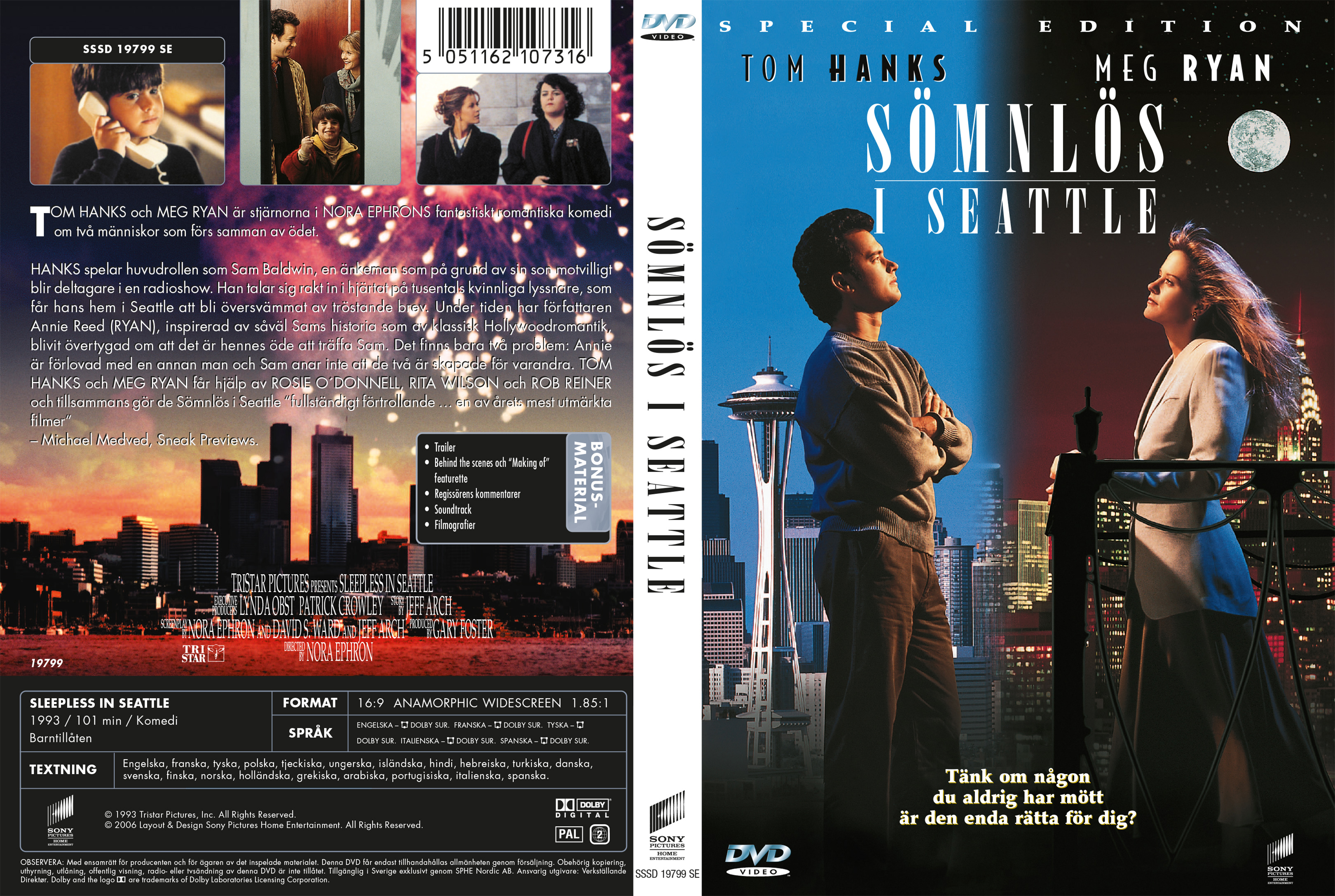 Covers Box Sk Sleepless In Seattle 1993 High Quality Dvd Blueray Movie