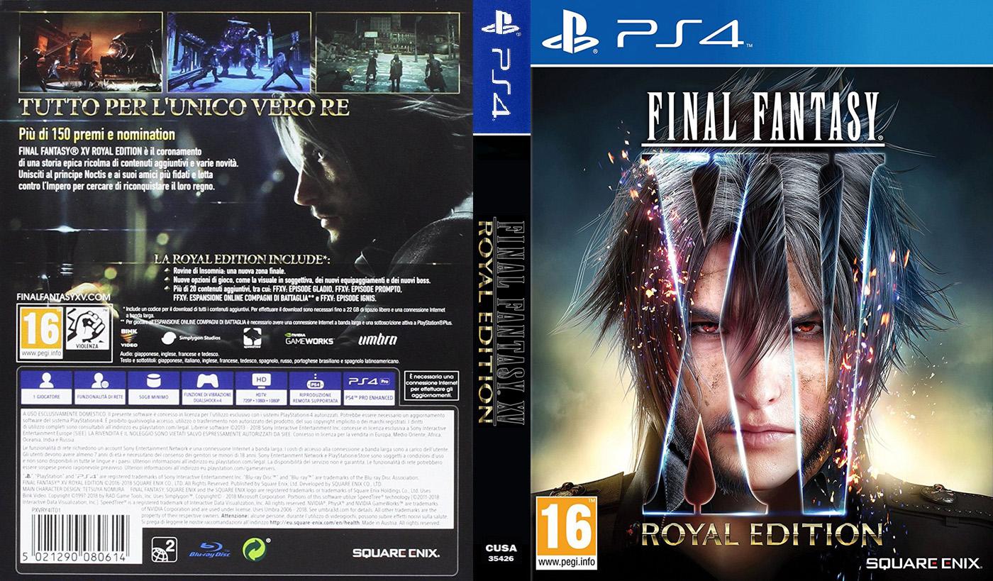 final fantasy 15 royal edition ps4 size