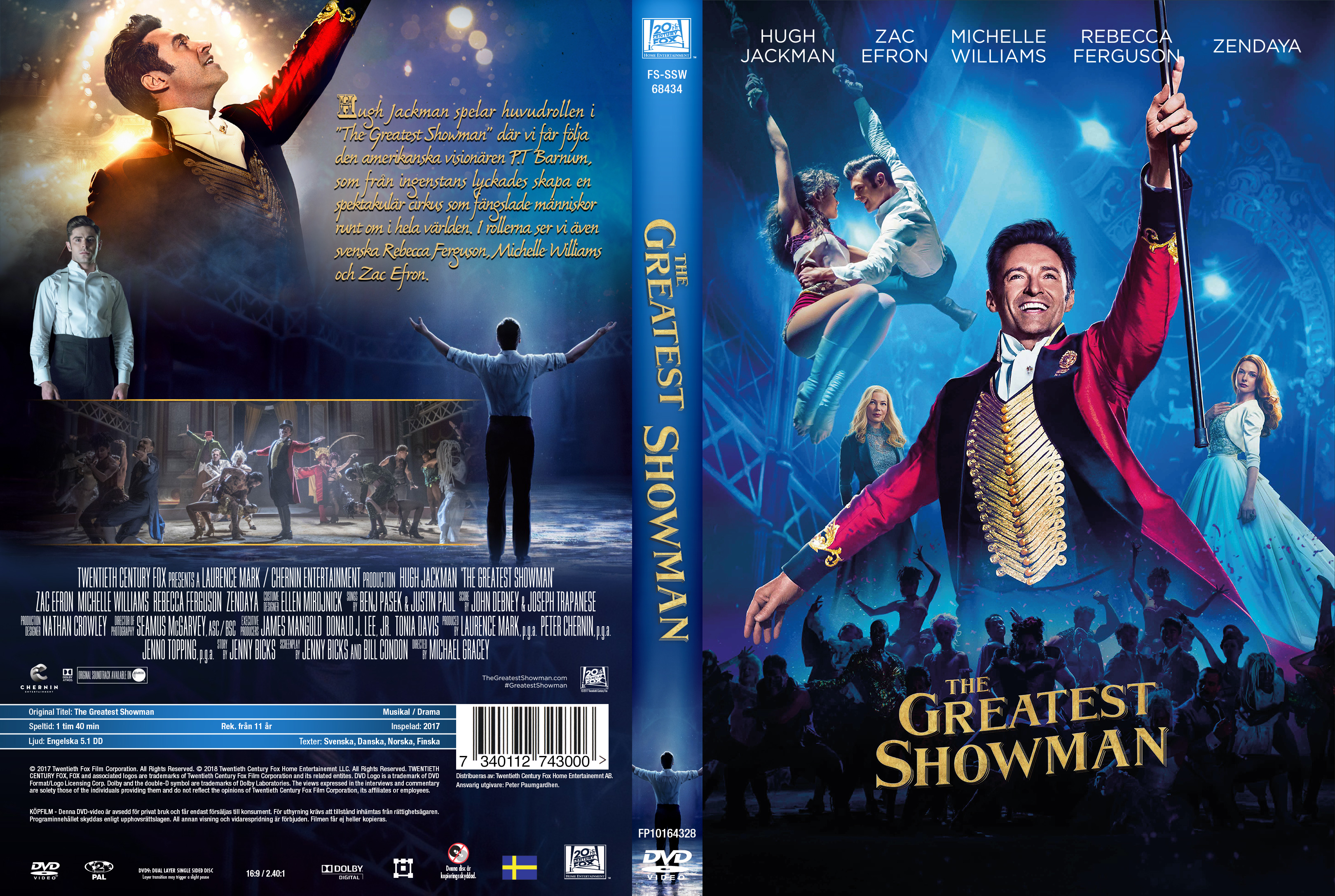 Covers Box Sk The Greatest Showman 2017 High Quality Dvd Blueray Movie