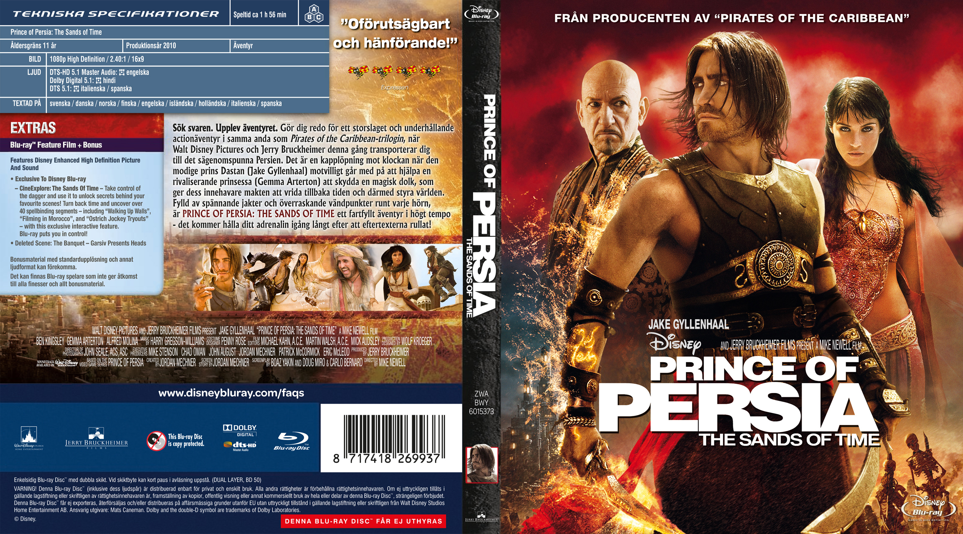 Covers Box Sk Prince Of Persia The Sands Of Time Blu Ray 2010 High Quality Dvd Blueray Movie