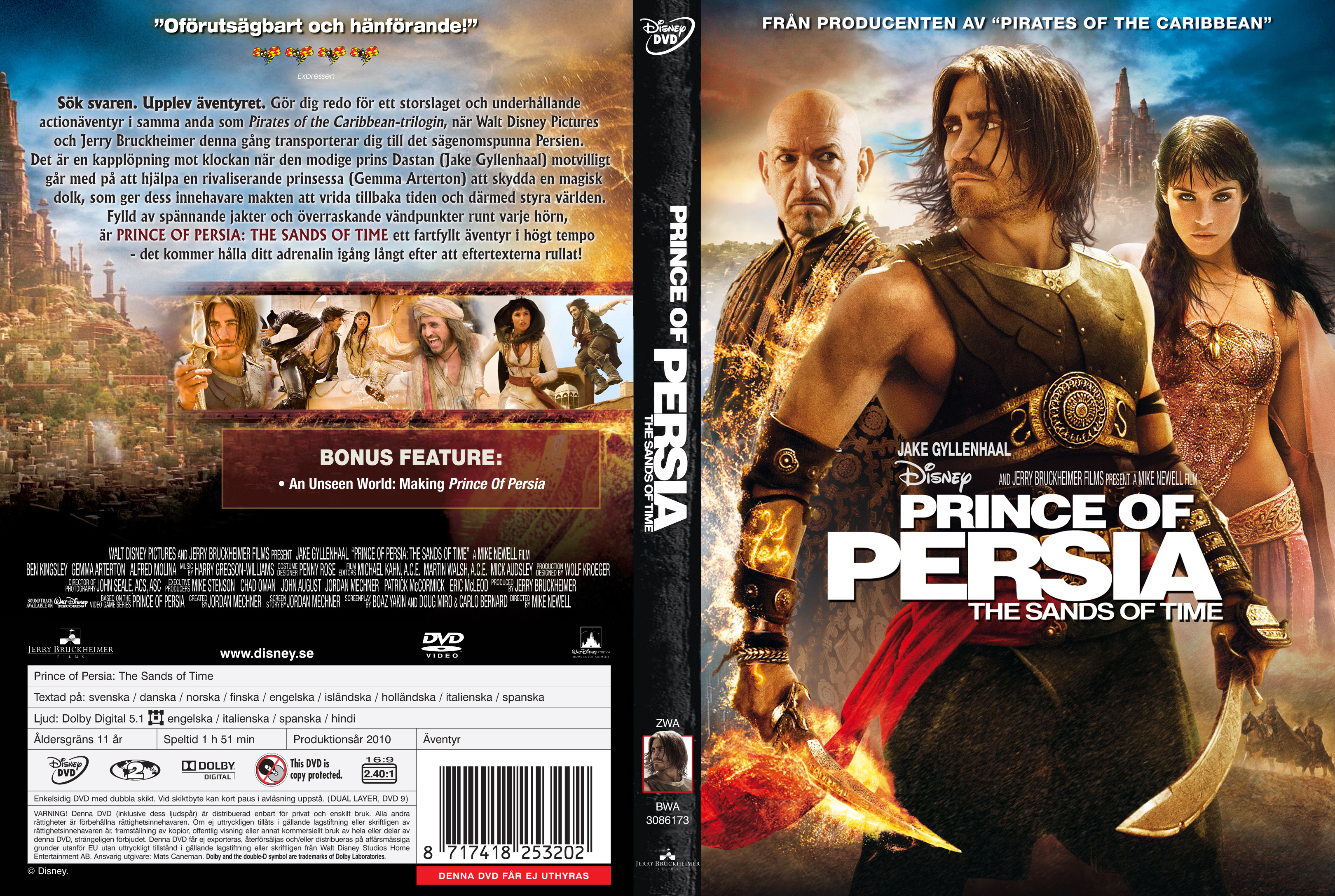 Covers Box Sk Prince Of Persia The Sands Of Time 2010 High Quality Dvd Blueray Movie