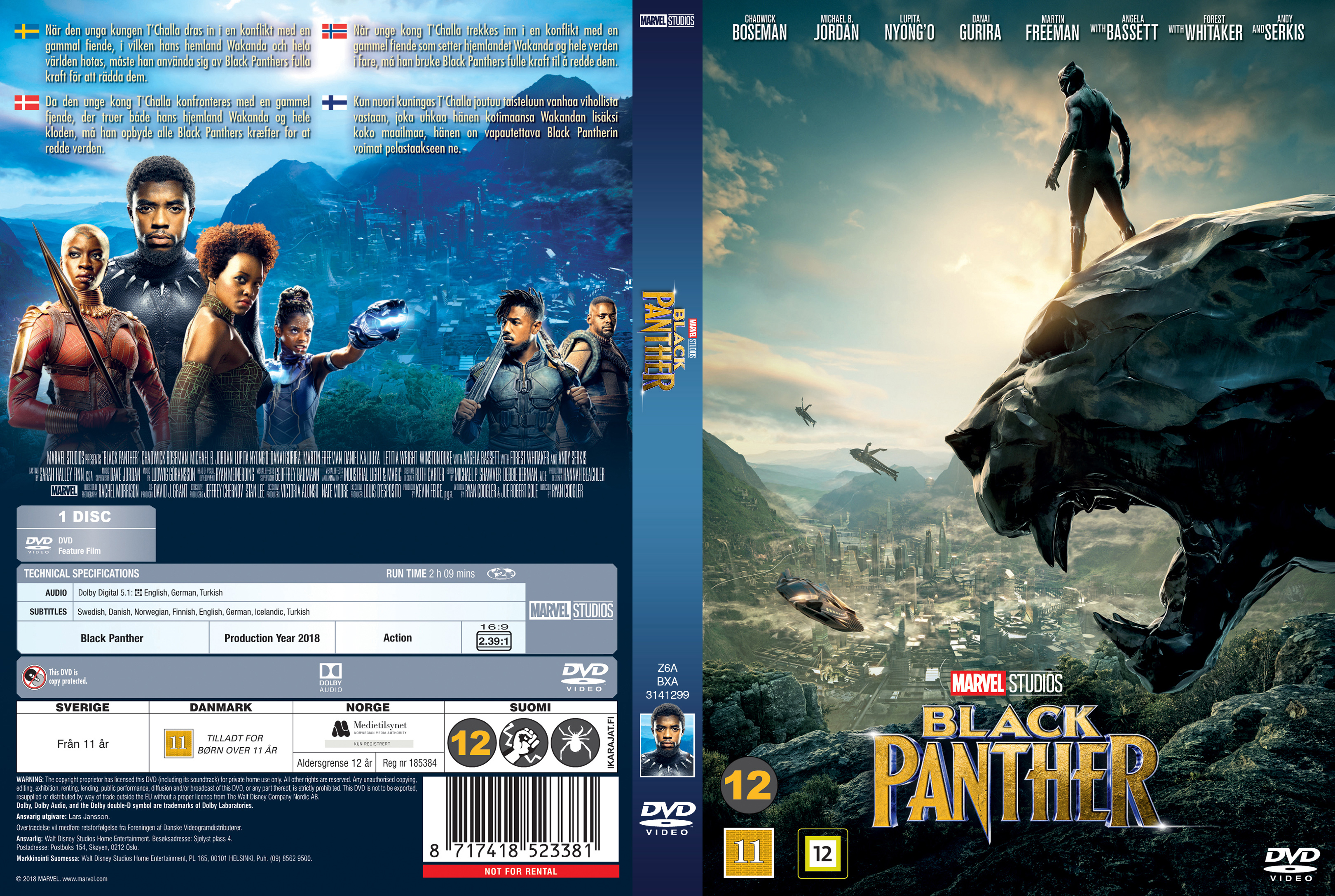 Coversboxsk Black Panther Nordic 2018 High Quality Dvd