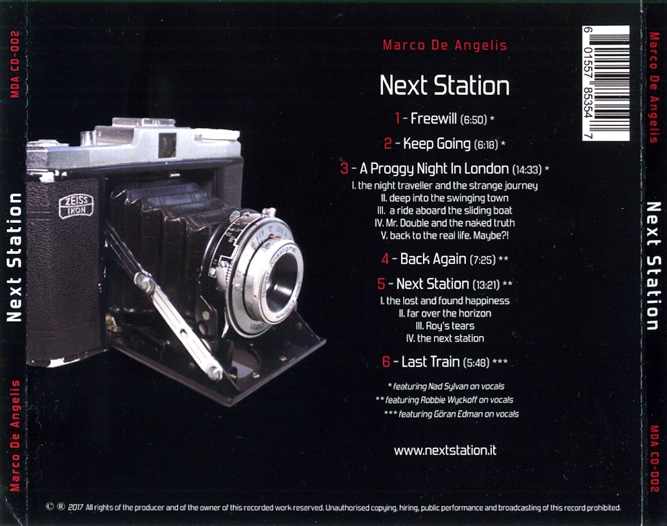 COVERS.BOX.SK ::: Marco De Angelis - Next Station (2017) - high ...