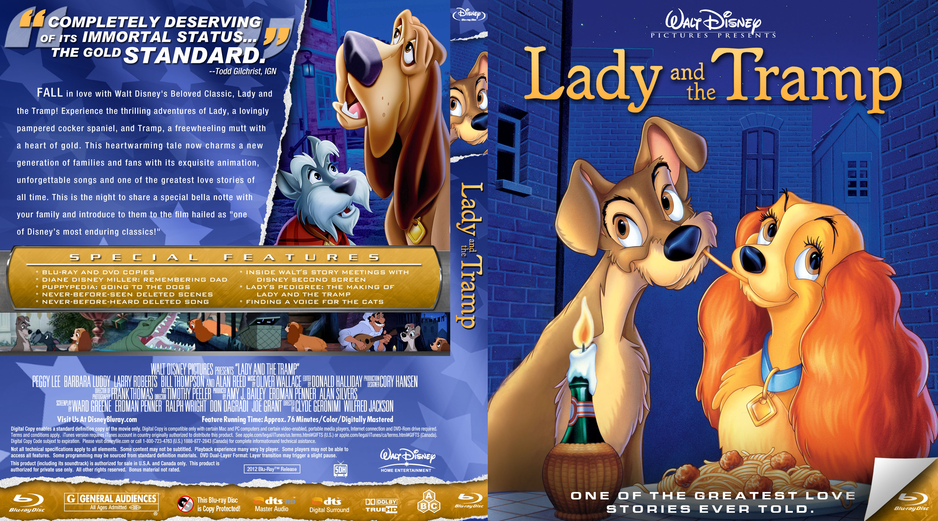 Covers Box Sk Lady And The Tramp 1955 High Quality Dvd Blueray Movie
