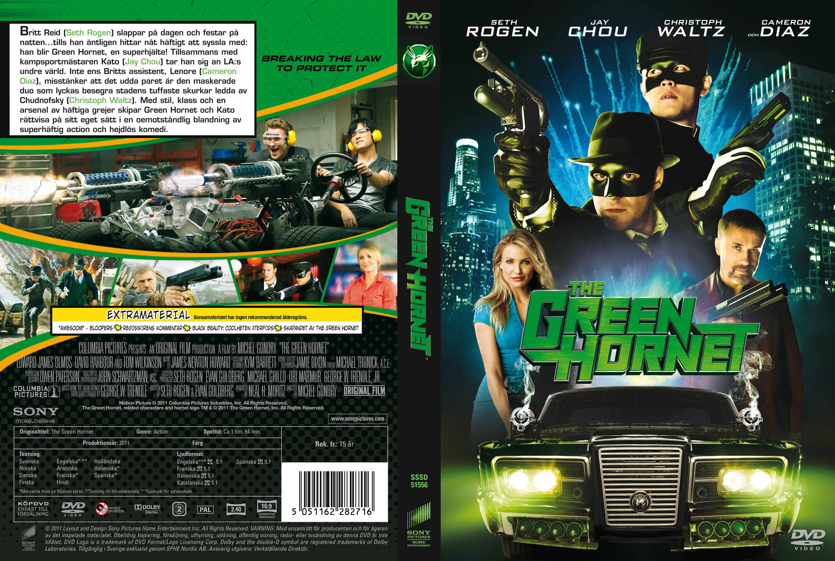Covers Box Sk The Green Hornet 2011 High Quality Dvd Blueray Movie