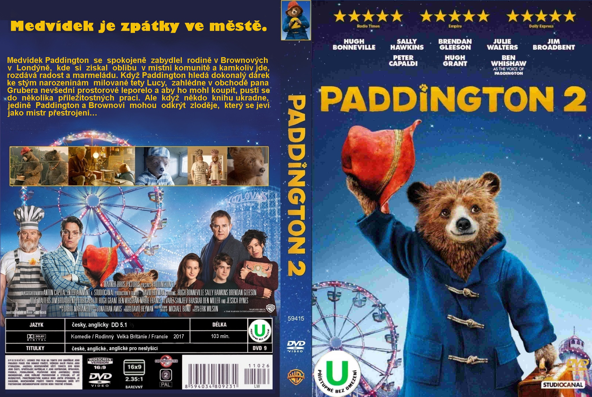 Covers Box Sk Paddington 2 2017 High Quality Dvd Blueray Movie
