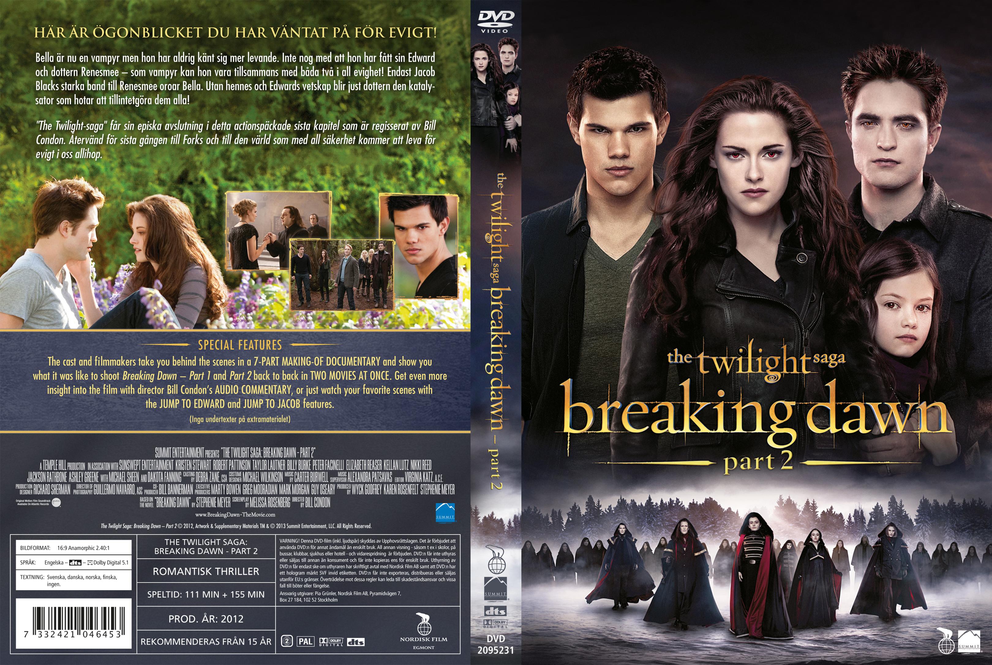 Covers Box Sk The Twilight Saga Breaking Dawn Part 2 2012 High Quality Dvd Blueray Movie