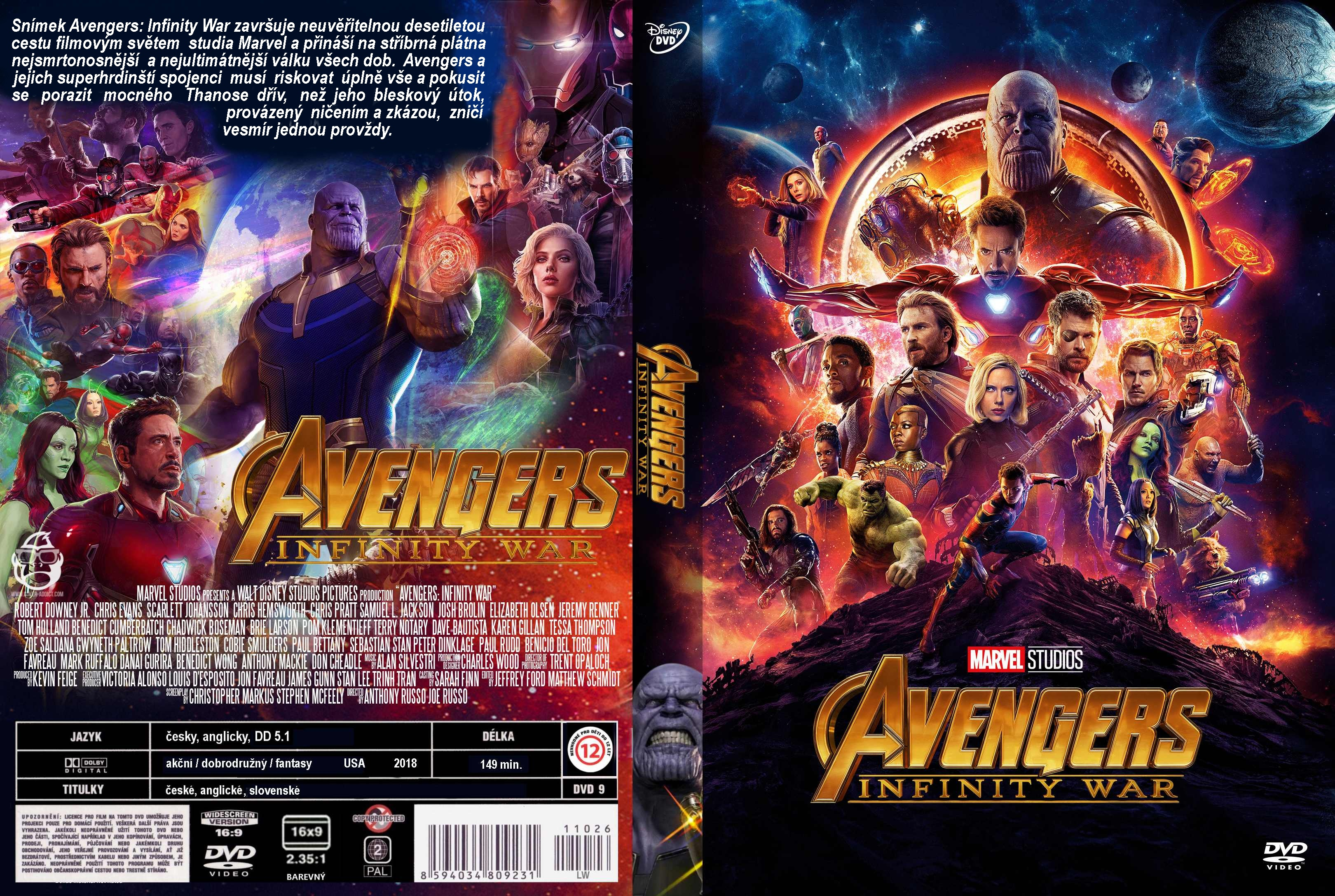 Covers Box Sk Avengers Infinity War 2018 High Quality Dvd Blueray Movie