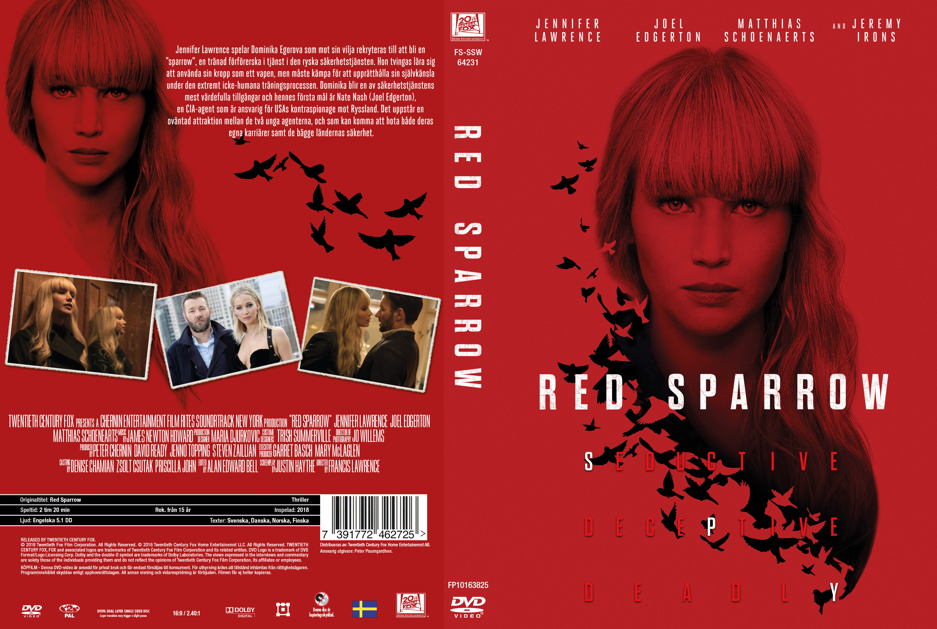 COVERS.BOX.SK ::: Red Sparrow (2018) - high quality DVD / Blueray / Movie