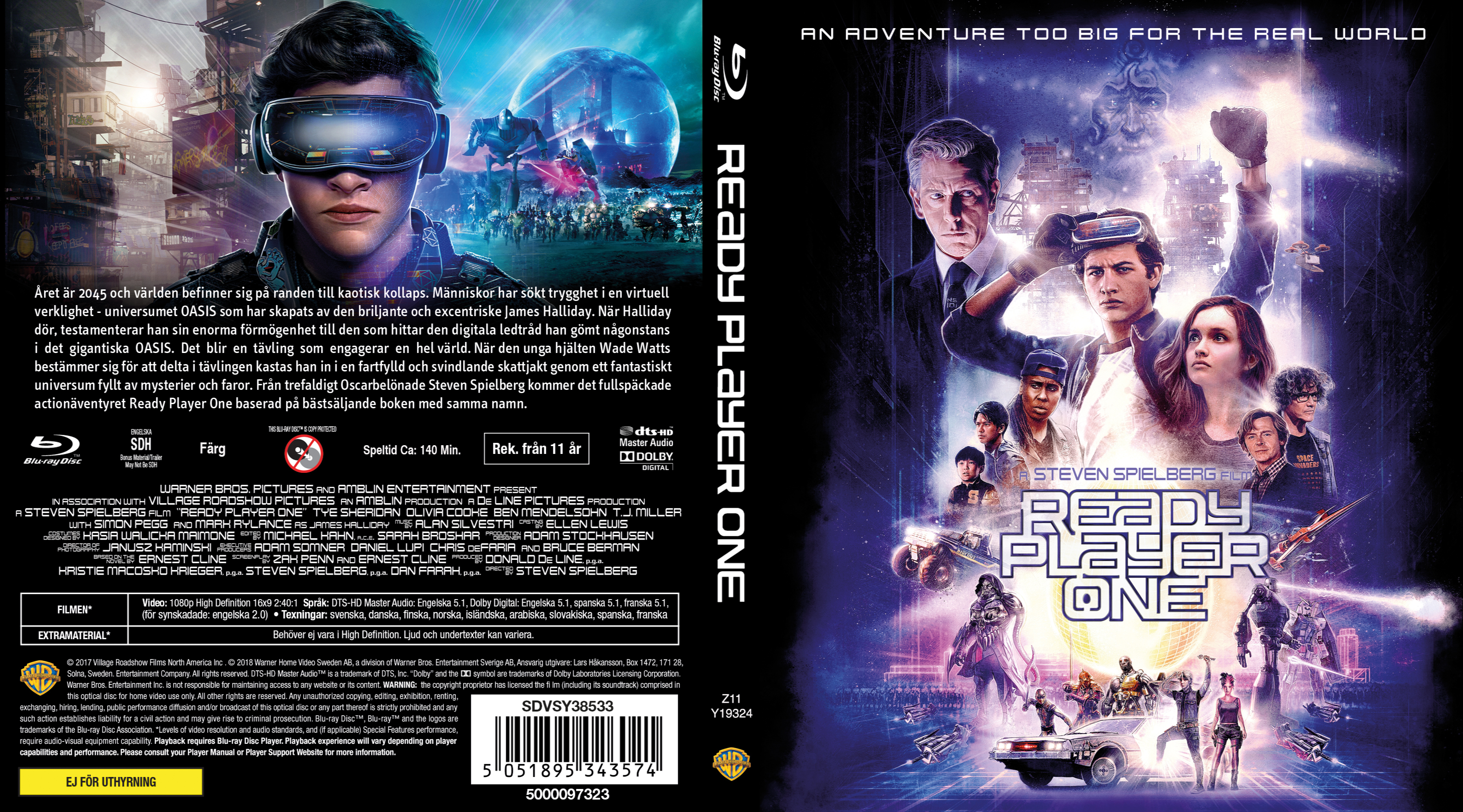 Ready Player One (scan) DVD Cover   Cover Addict - Free