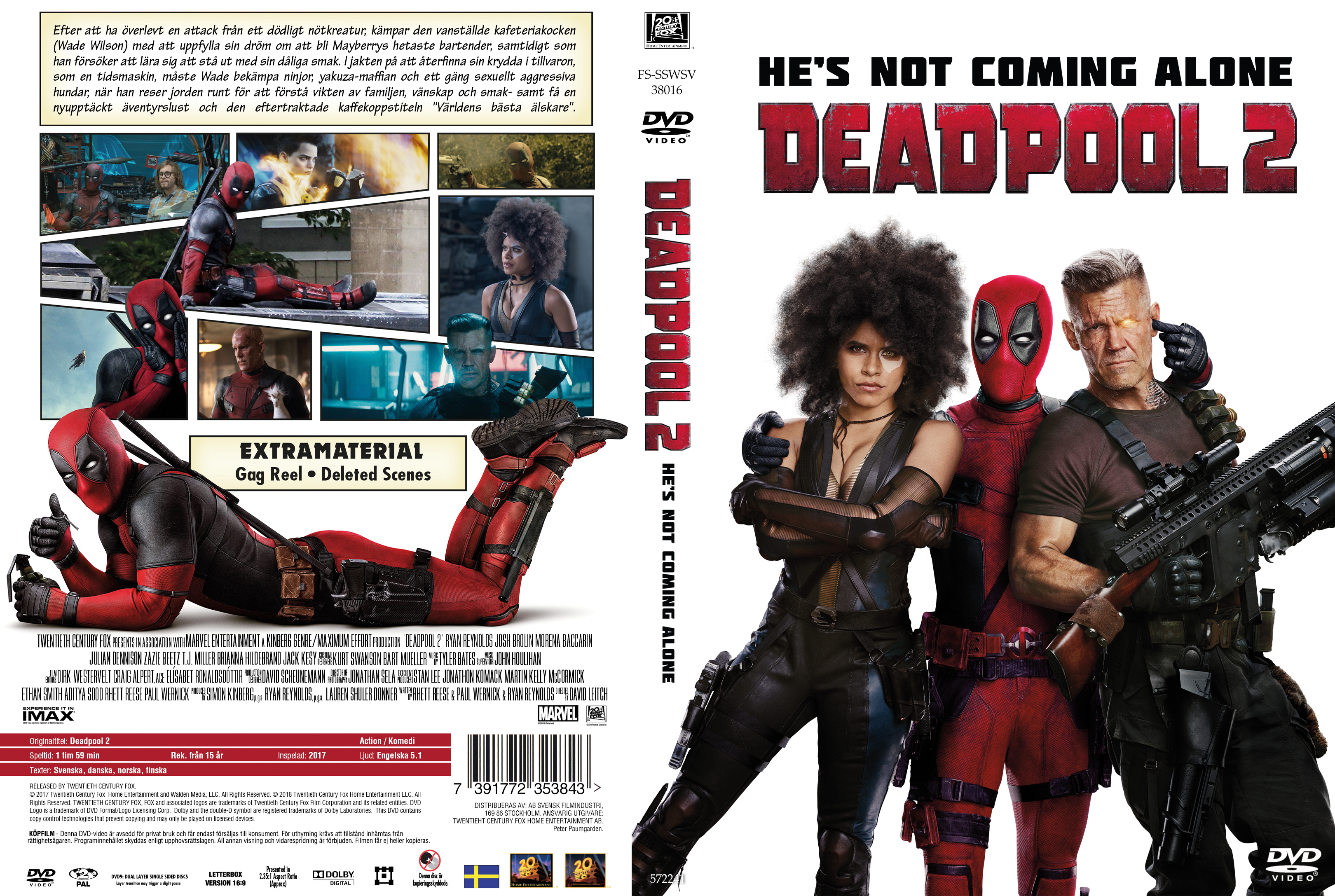 Covers Box Sk Deadpool 2 2018 High Quality Dvd Blueray Movie