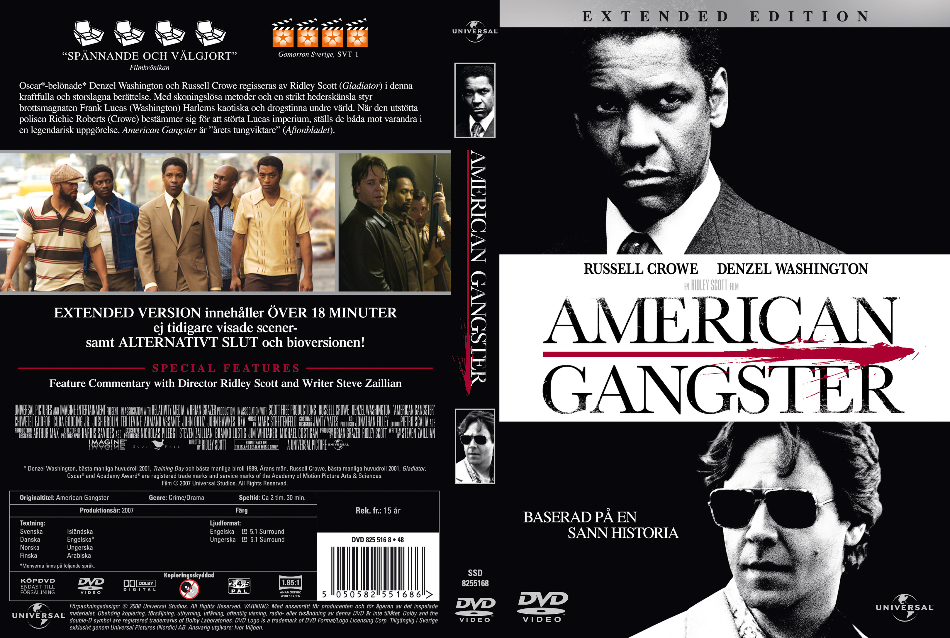 Covers Box Sk American Gangster 2007 High Quality Dvd Blueray Movie