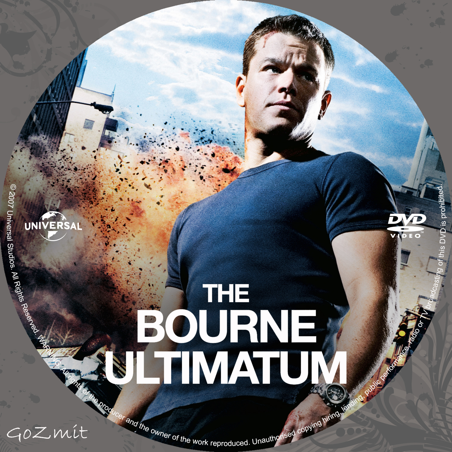 Covers Box Sk The Bourne Ultimatum 2007 High Quality Dvd Blueray Movie