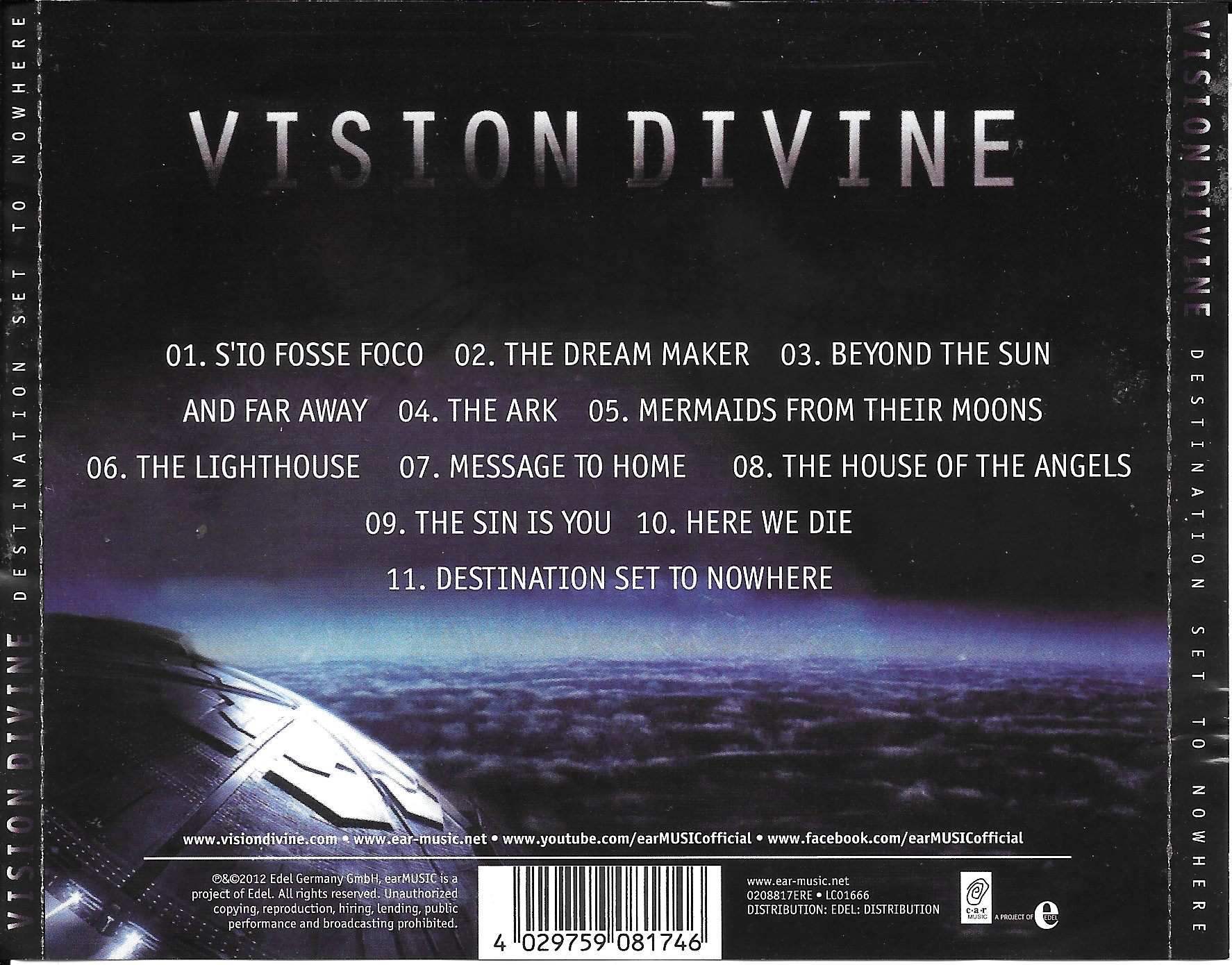 The House Of Sin Dvd covers.box.sk ::: vision divine - destination set to nowhere