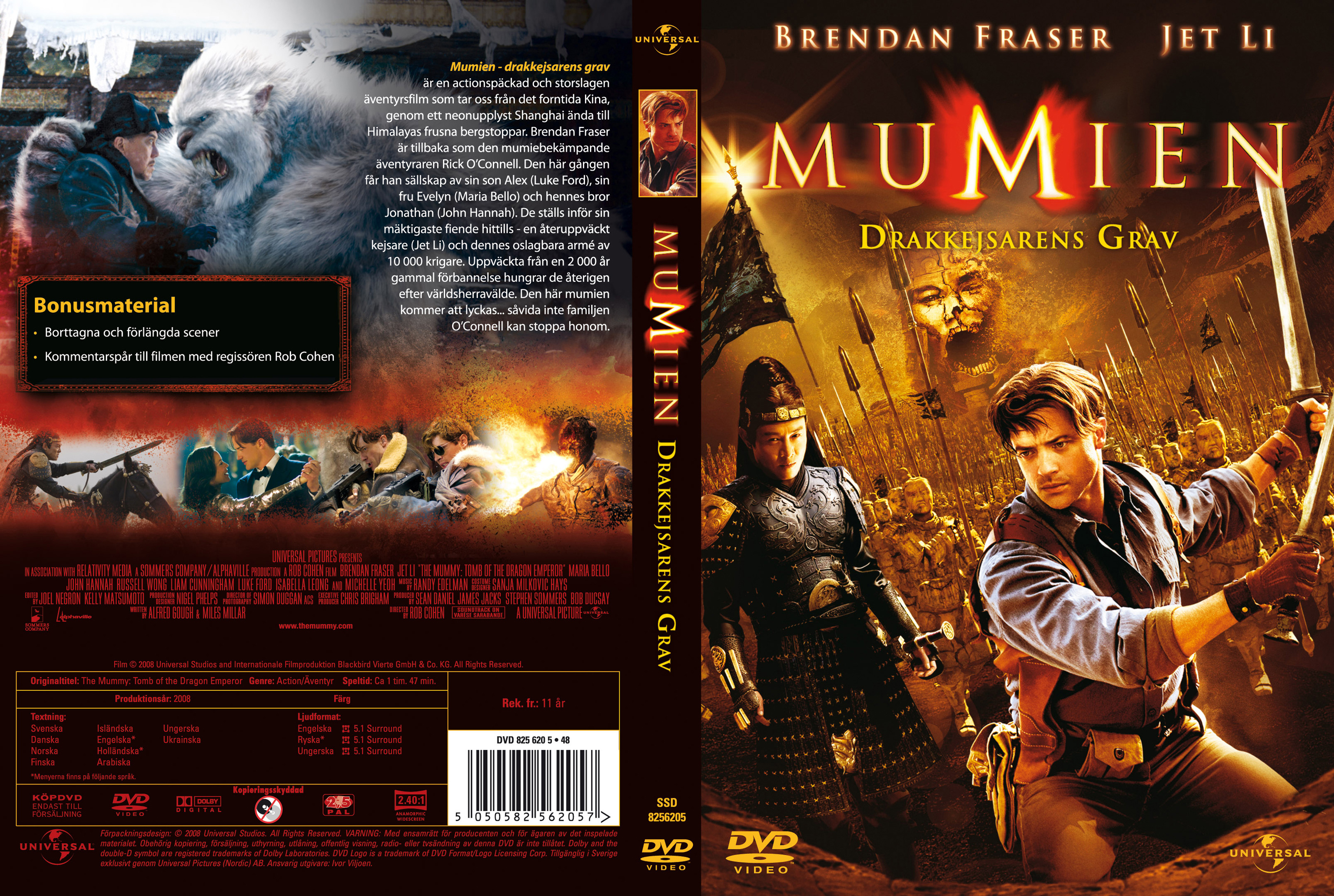 Covers Box Sk The Mummy Tomb Of The Dragon Emperor 2008 High Quality Dvd Blueray Movie
