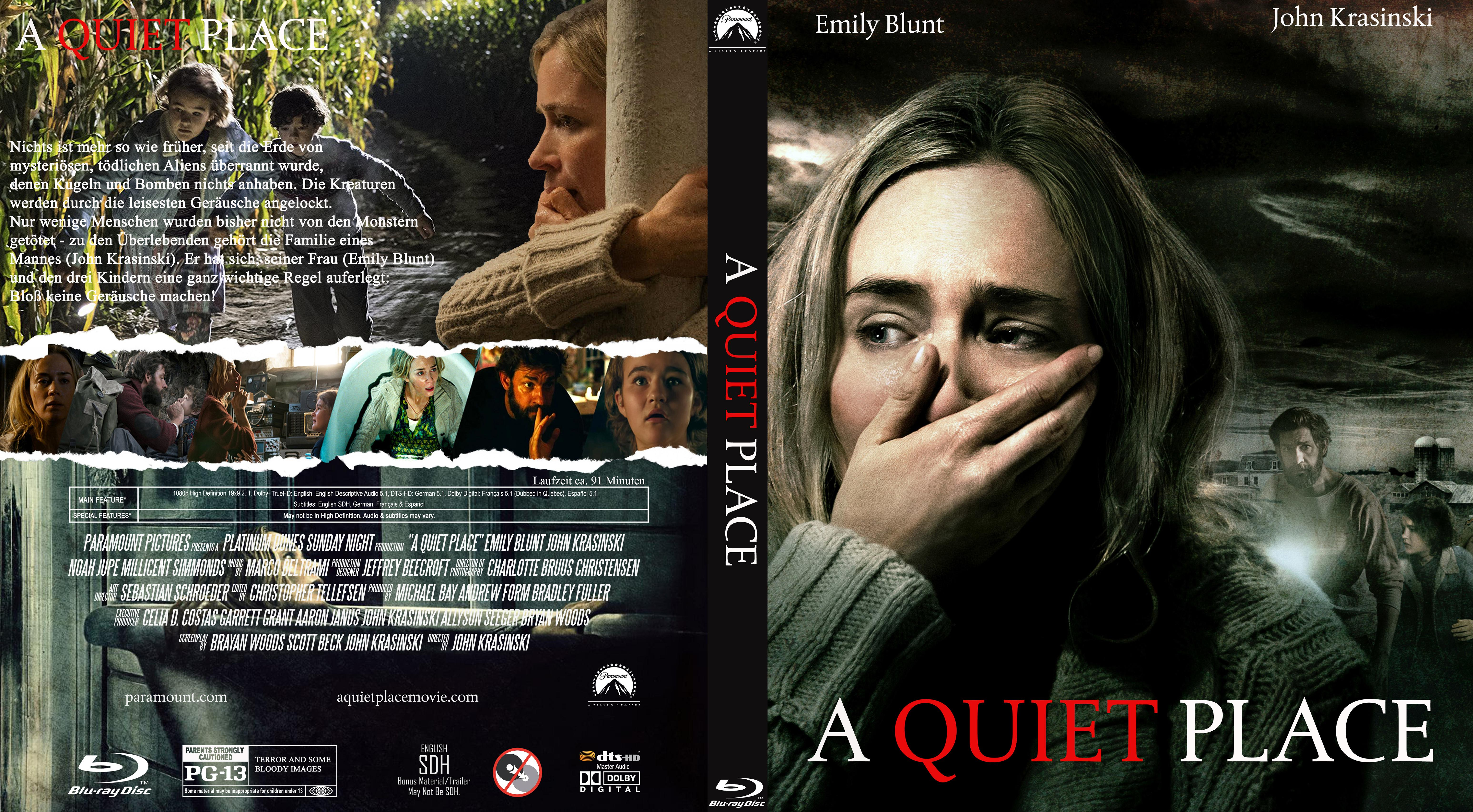 Covers Box Sk A Quiet Place 2018 German R2 High Quality Dvd Blueray Movie