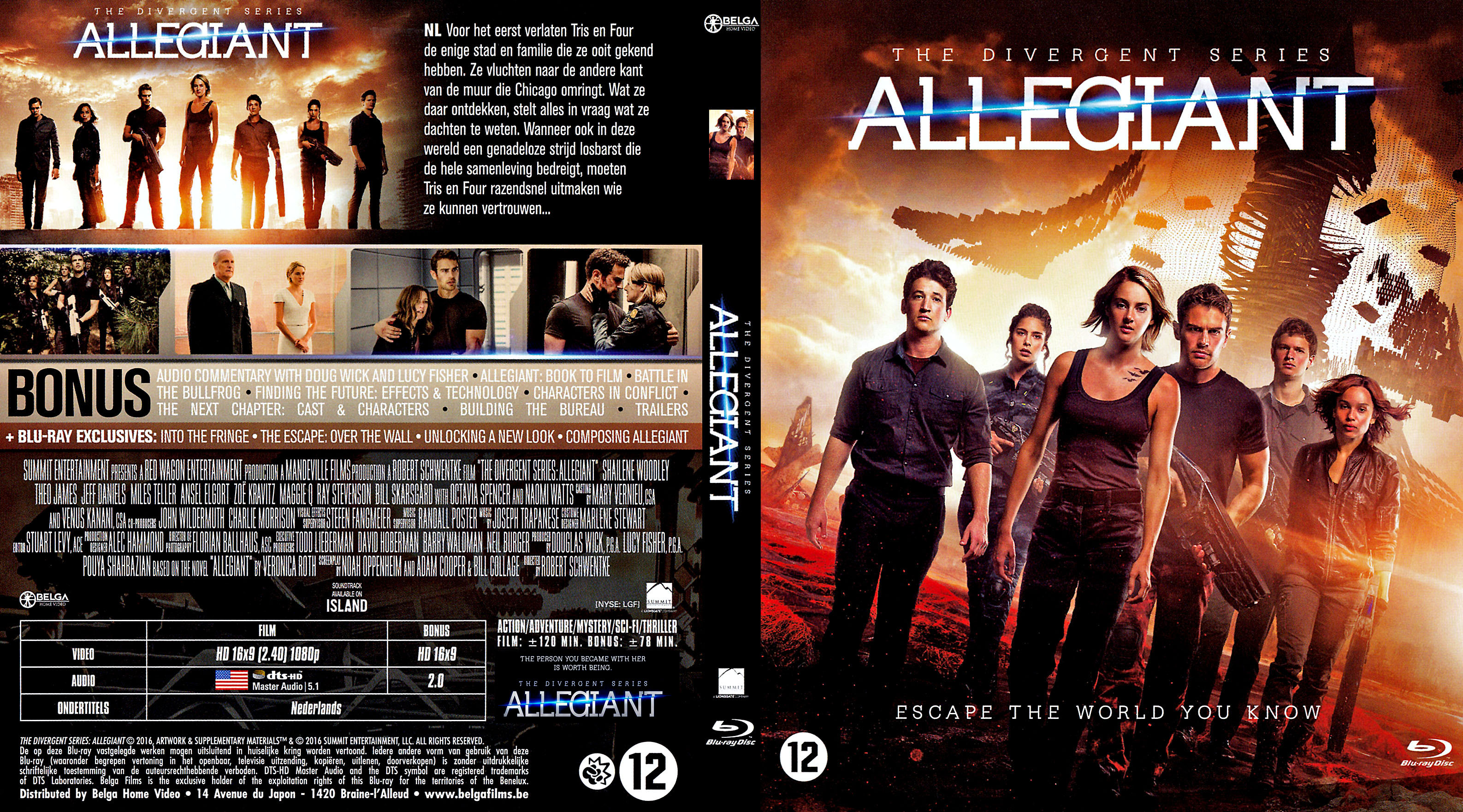 Covers Box Sk The Divergent Series Allegiant 2016 Dutch R2 High Quality Dvd Blueray Movie