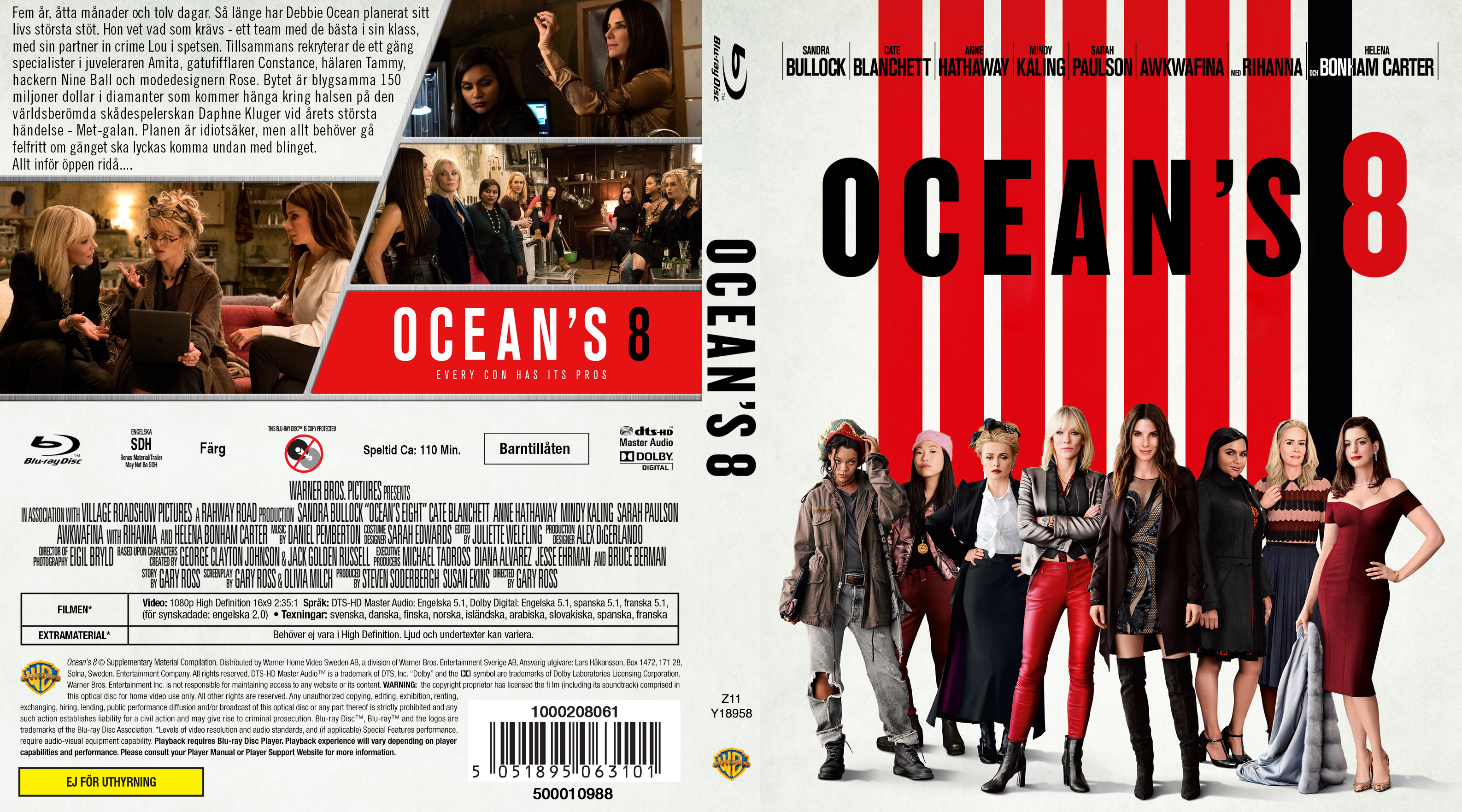 Covers Box Sk Ocean S Eight Blu Ray 2018 High Quality Dvd Blueray Movie