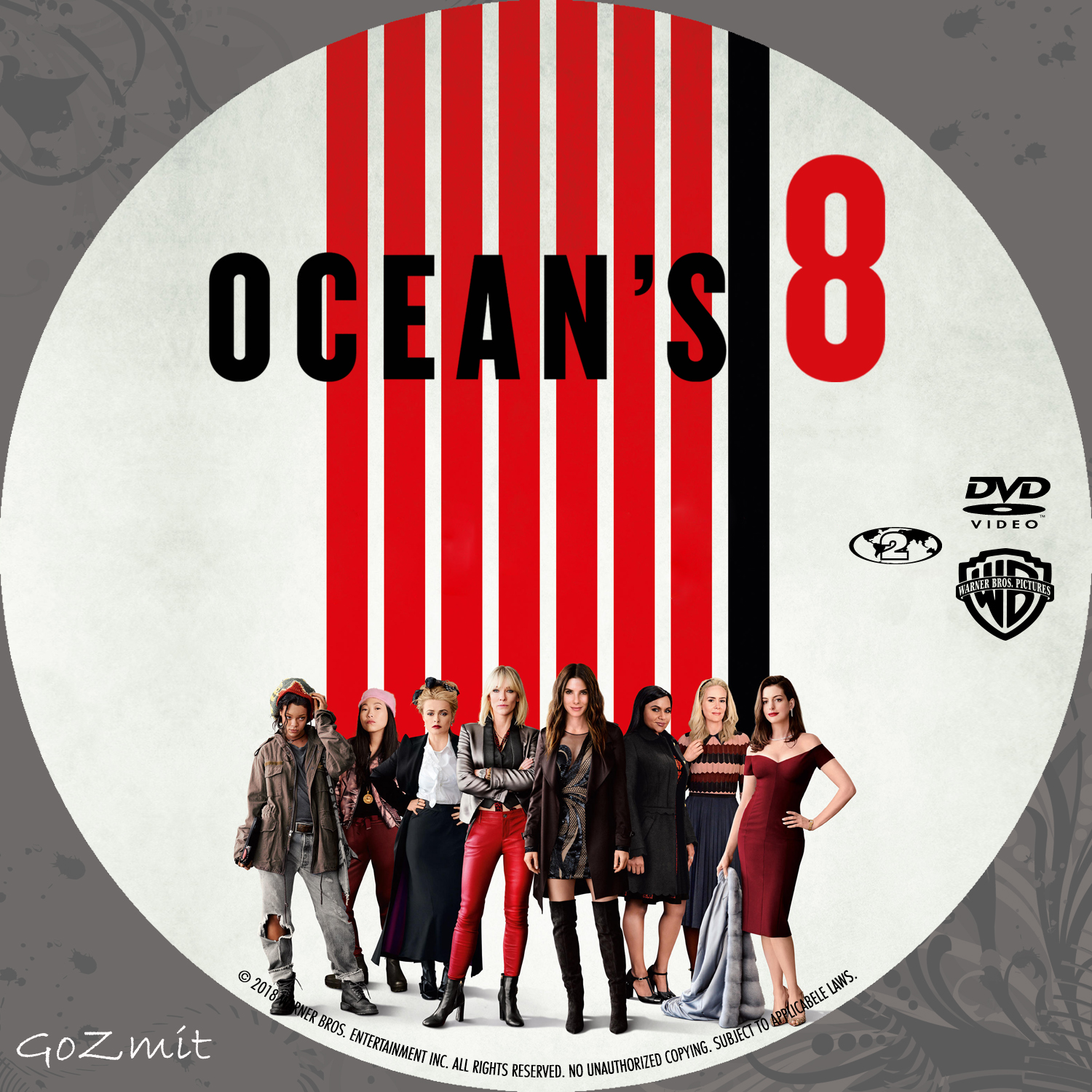 Covers Box Sk Ocean S Eight 2018 High Quality Dvd Blueray Movie