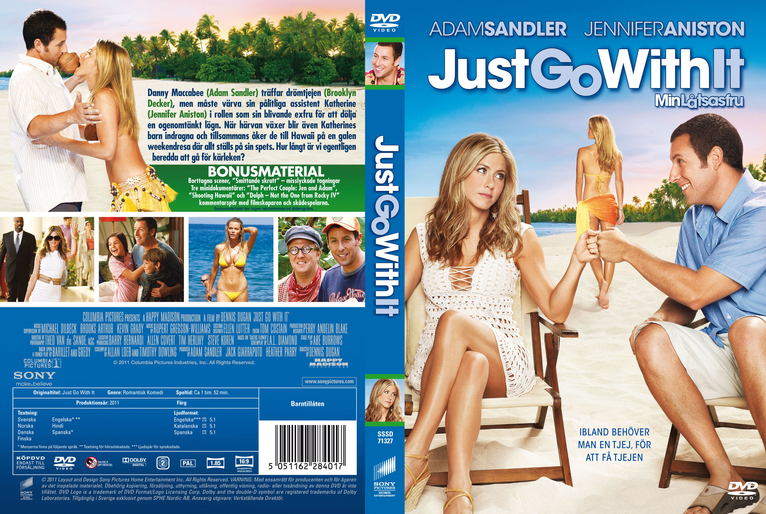 Covers Box Sk Just Go With It 2011 High Quality Dvd