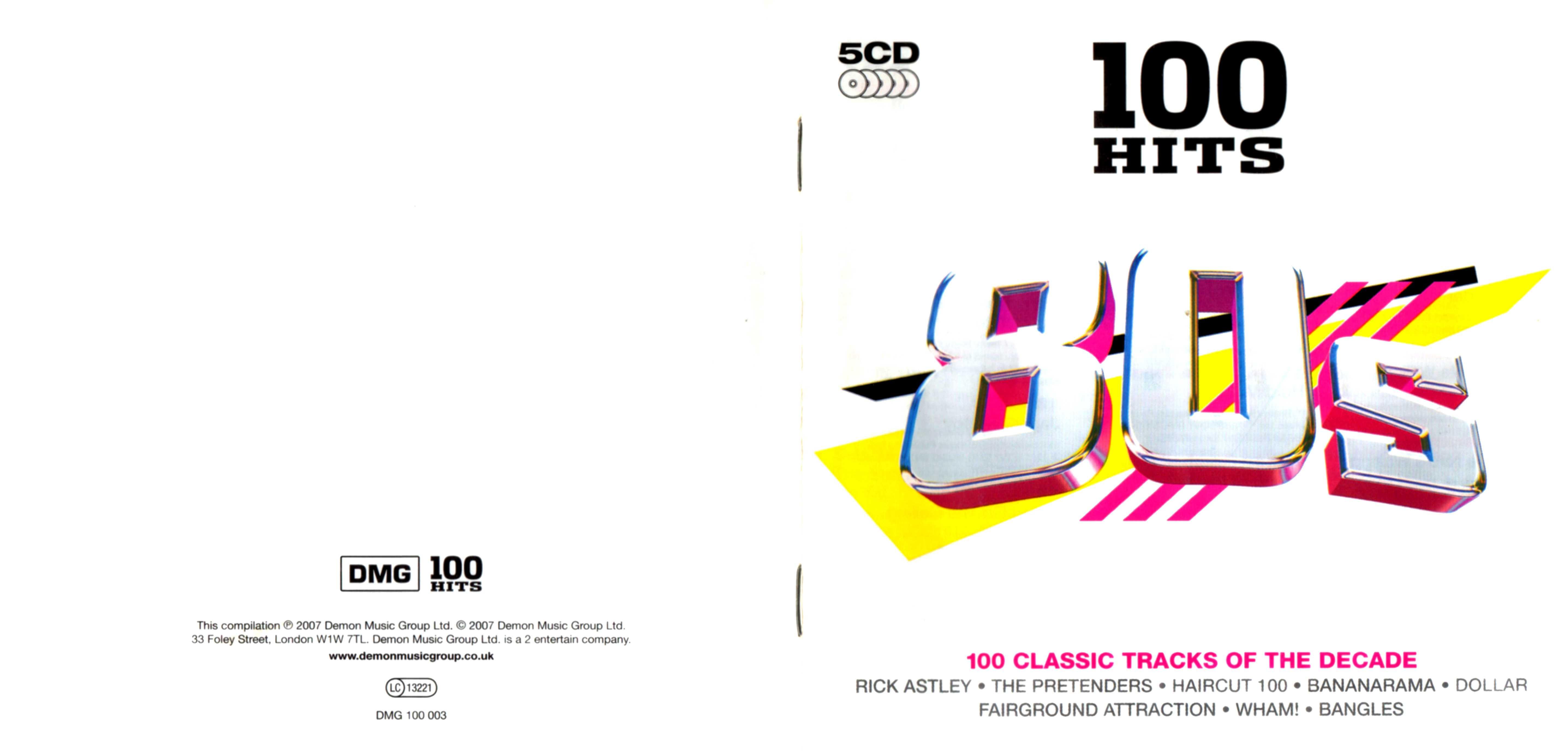 COVERS BOX SK ::: 100 hits - 80s [2007] pt1 - high quality DVD