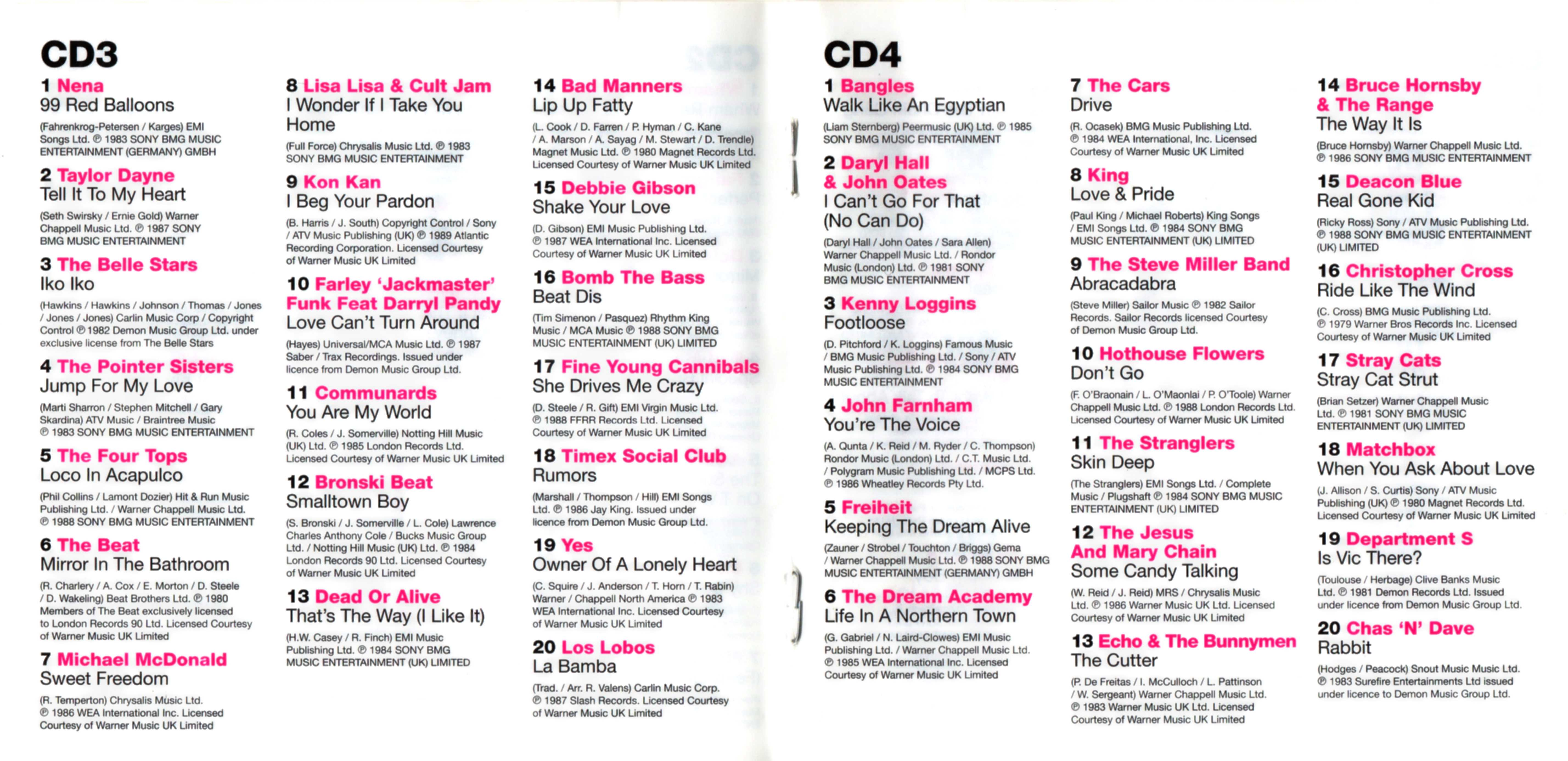 COVERS BOX SK ::: 100 hits - 80s [2007] pt2 - high quality DVD