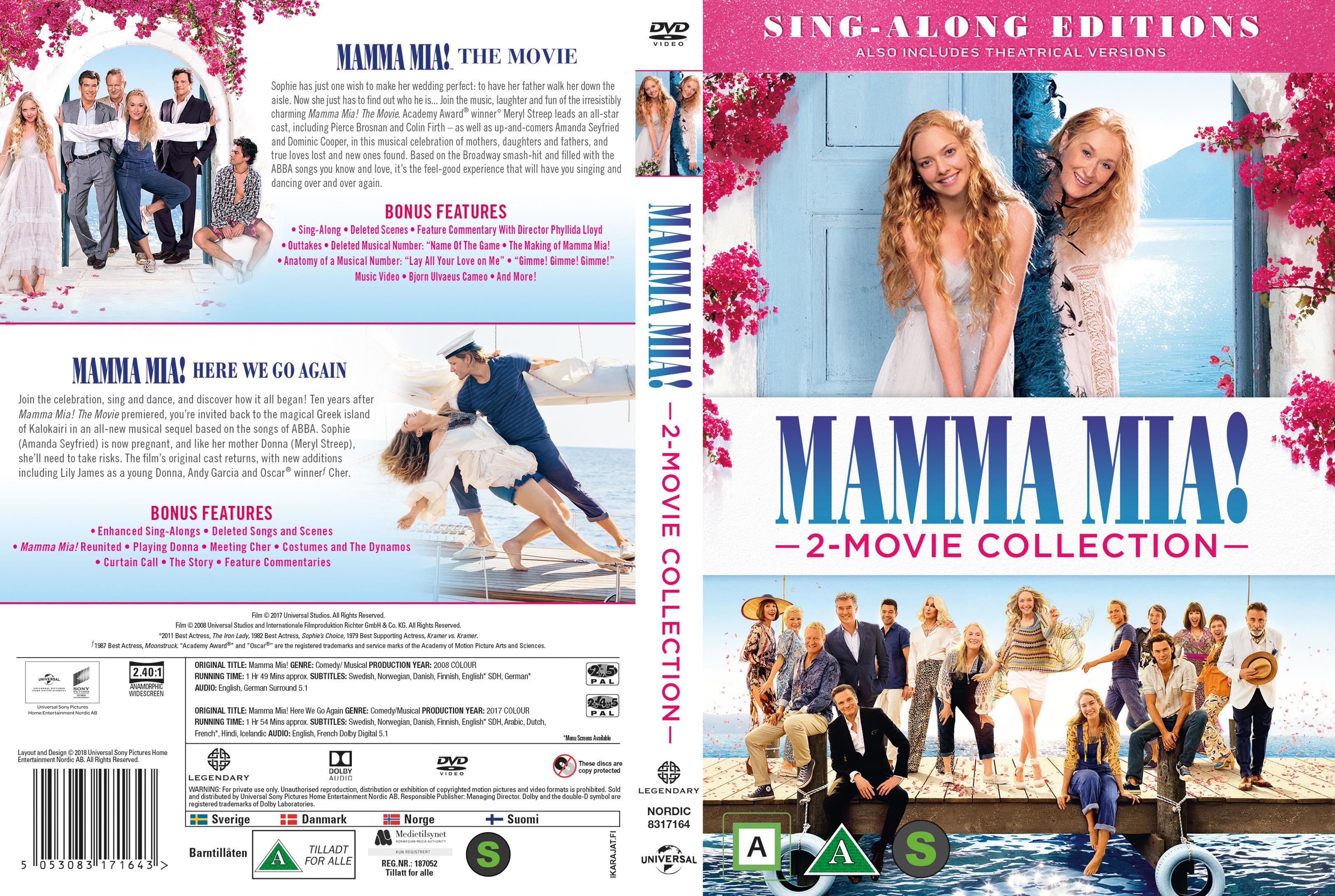 Coversboxsk Mamma Mia 2 Movie Collection Nordic 2018